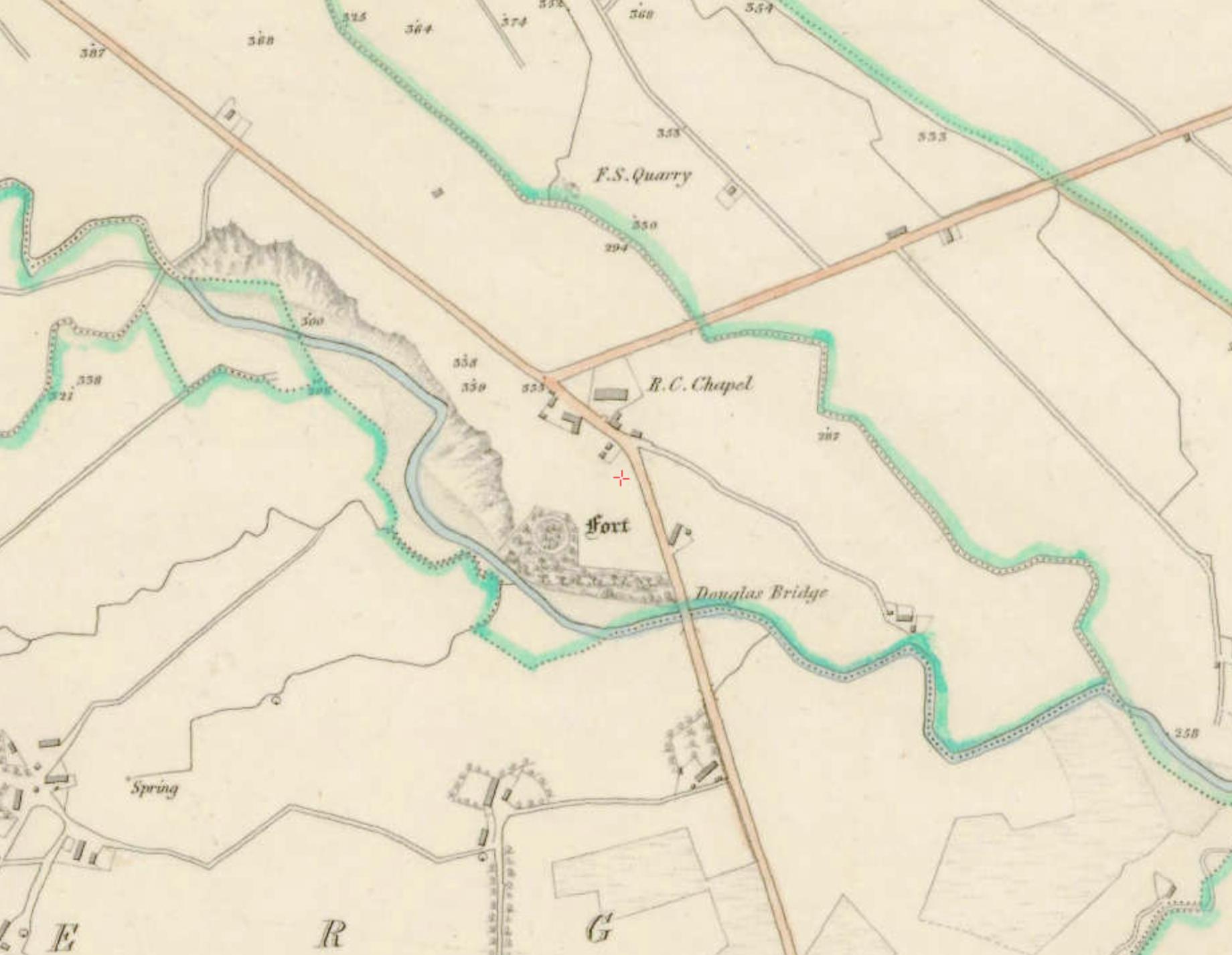 "Moneyneena 1:5000, Historic 6"" Map 1842 . ©Ordnance Survey Ireland, 2017"