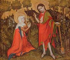 Noli me tangere, Meister des Göttinger Barfüßeraltars,ca. 1410