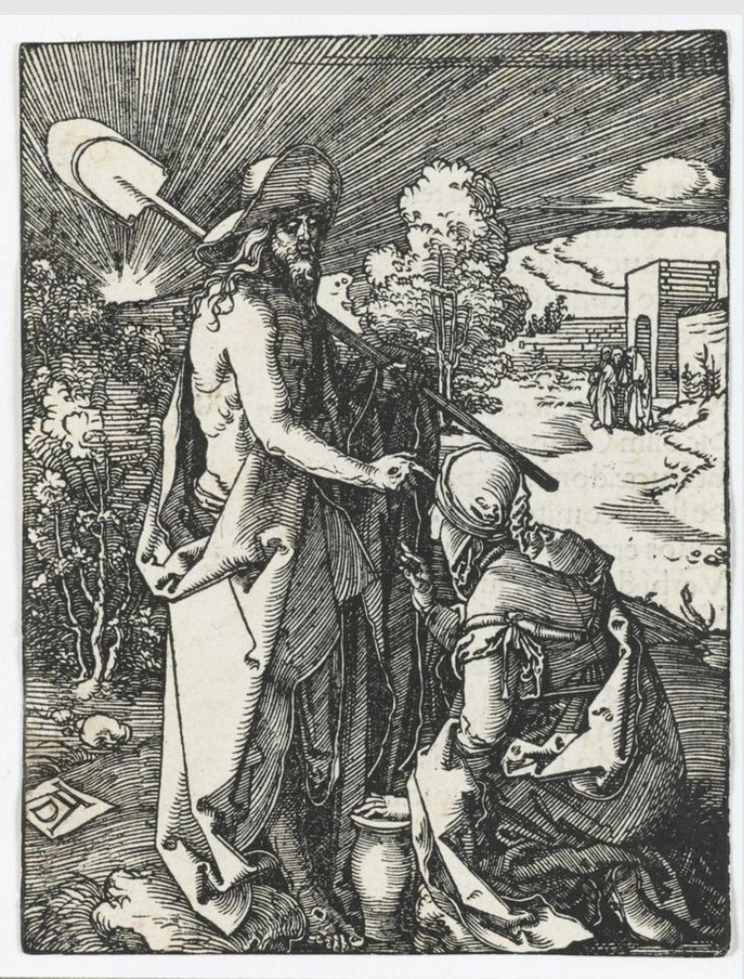 Noli me tangere (the Small Passion). Albrecht Dürer, 1510
