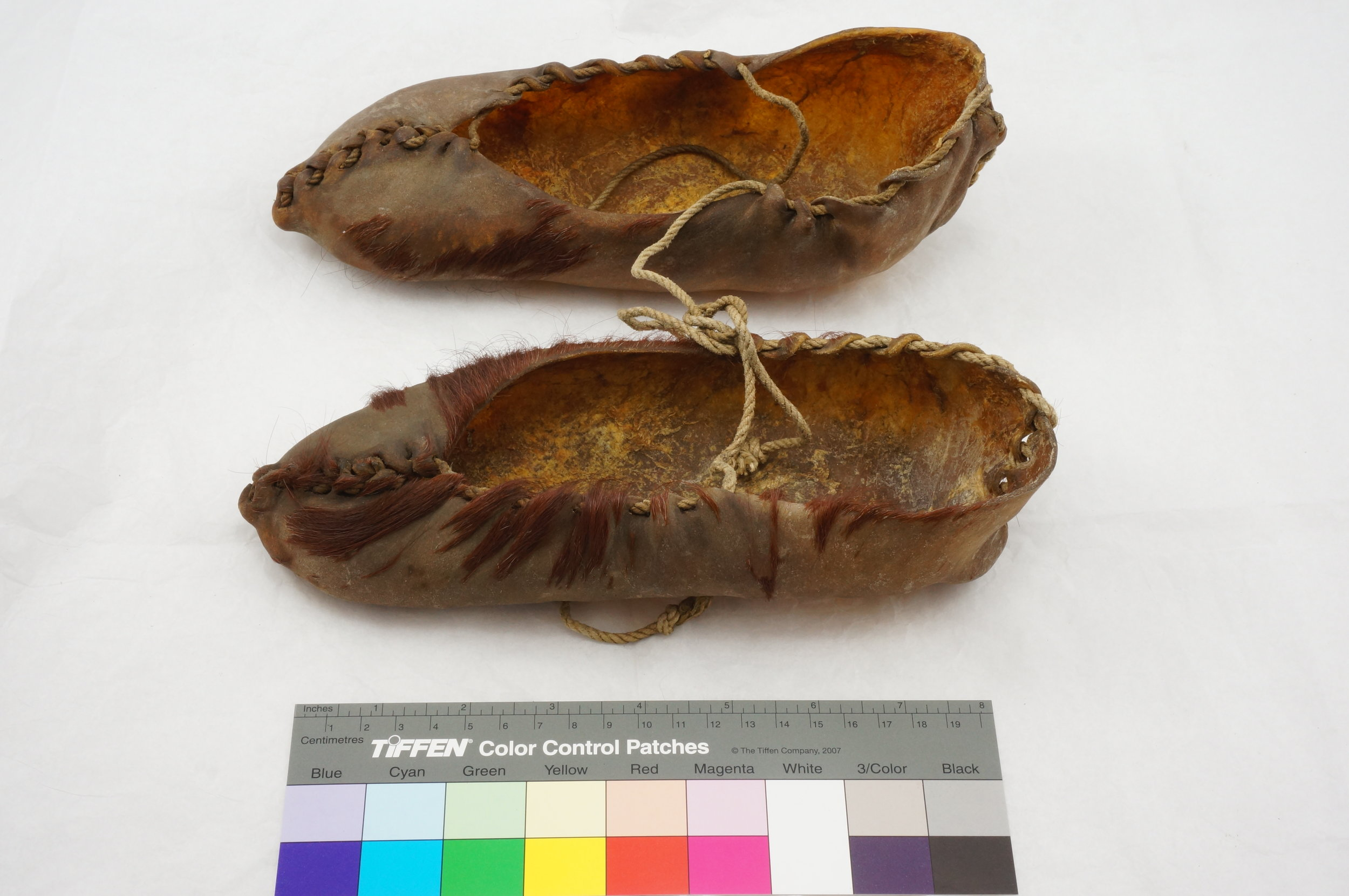 20th century 'pampootie' footwear from the collection of the Museum of Country Life, National Museum of Ireland. 1937.47 a/b © National Museum of Ireland