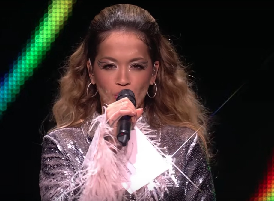 Rita Ora wears Isabella Townsley DISCO hoop earrings at the Bambi Awards 2017