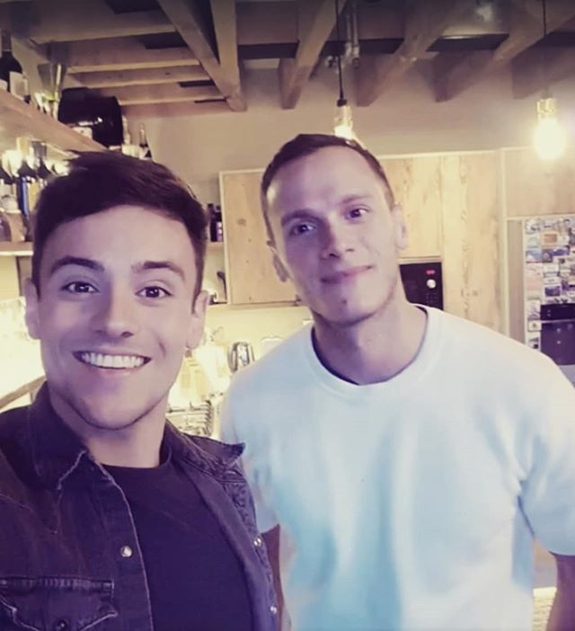 Working on a special project with @tomdaley (10th April 2017) #tbt #tomdaley #olympian