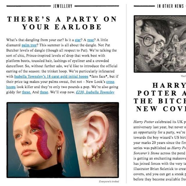 @isabellatownsley Initial Hoop Earrings on @emeraldstreetemail 💖