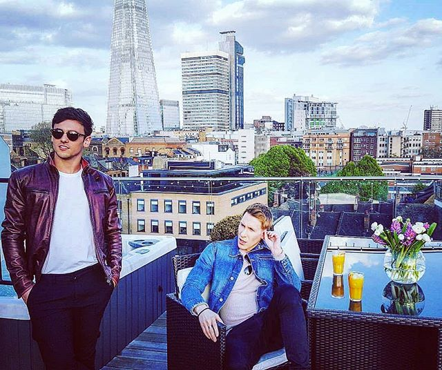 #tbt shooting with @tomdaley, @dlanceblack & @coupdevillearch for @evening.standard Property 📸 . . . #athome #architects #tomdaley #dustinlanceblack #olympian #oscarwinner #london