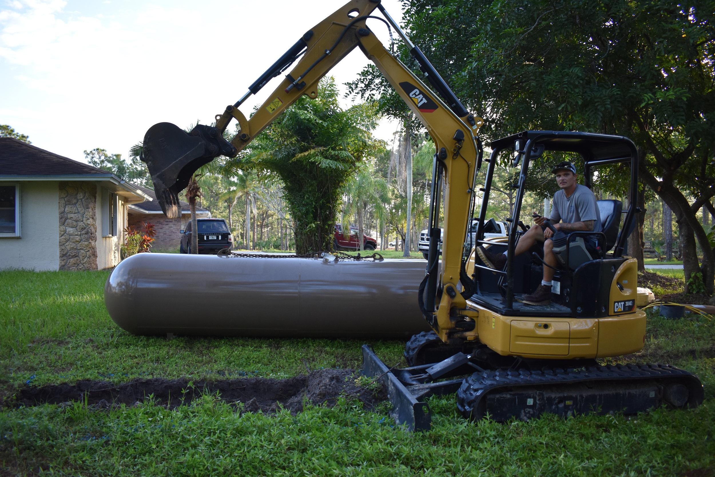 Tank Excavation Begins