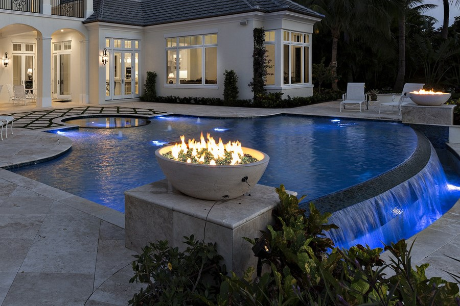 Fire Bowls with Glass