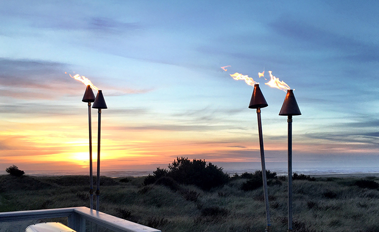 Gas Tiki Torches – Traditional Cone Style