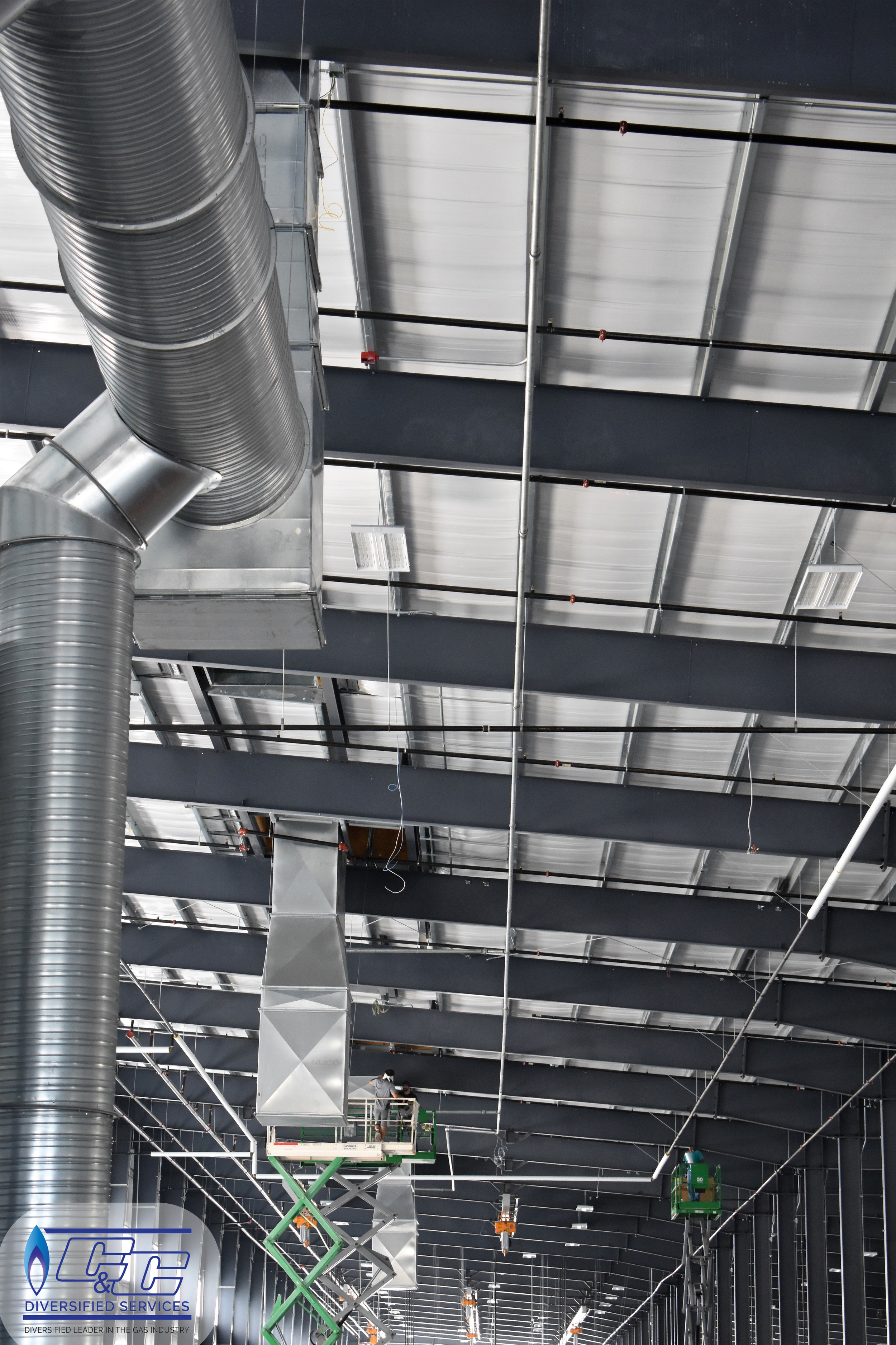 Gas Piping in an Industrial Facility