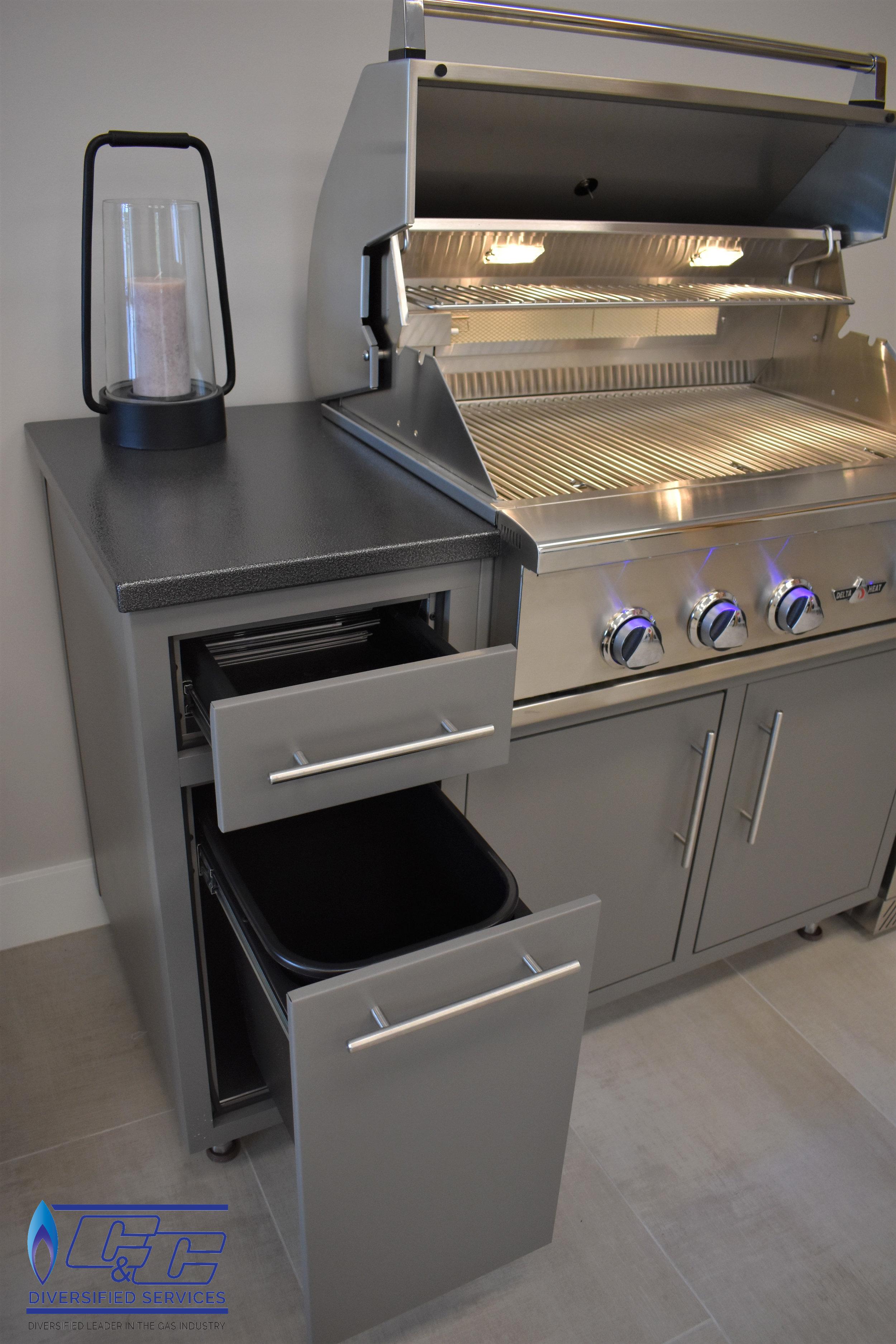"Challenger Designs & Kitchen Cabinetry 24"" Double Waste Basket Base"