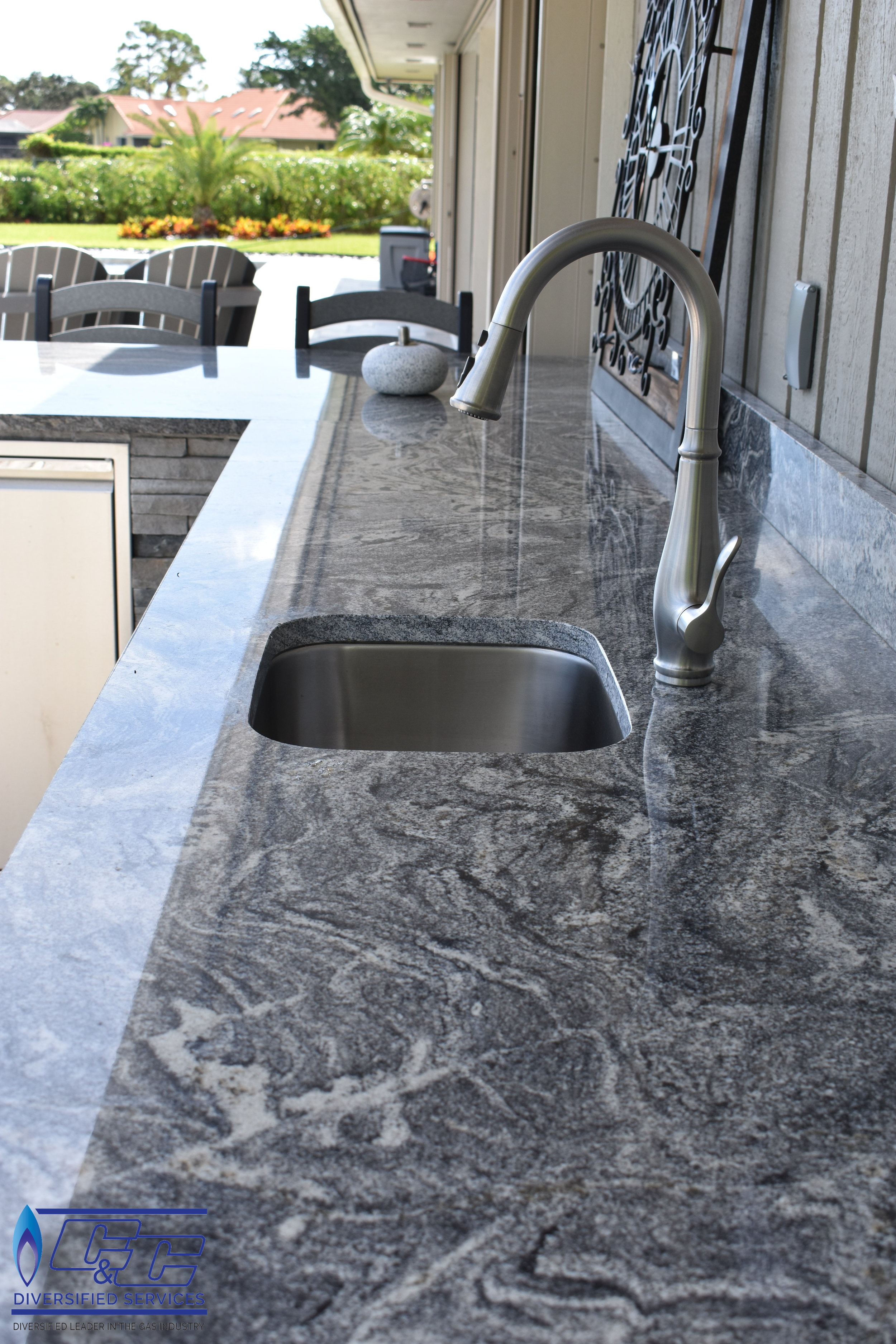 Undermount Stainless Steel Sink w/ Faucet