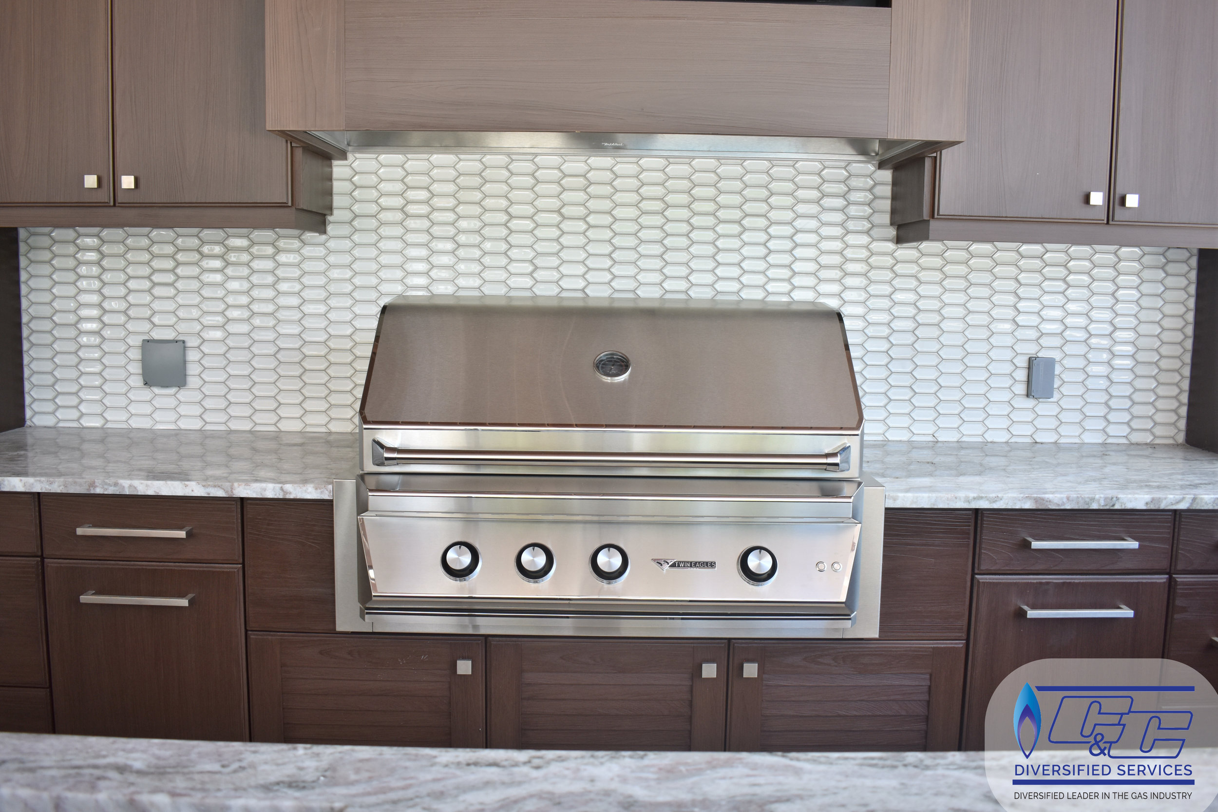 """NatureKast Weatherproof Cabinetry - 42"""" Twin Eagles Gas Grill with Infrared Rotisserie and Sear Zone"""