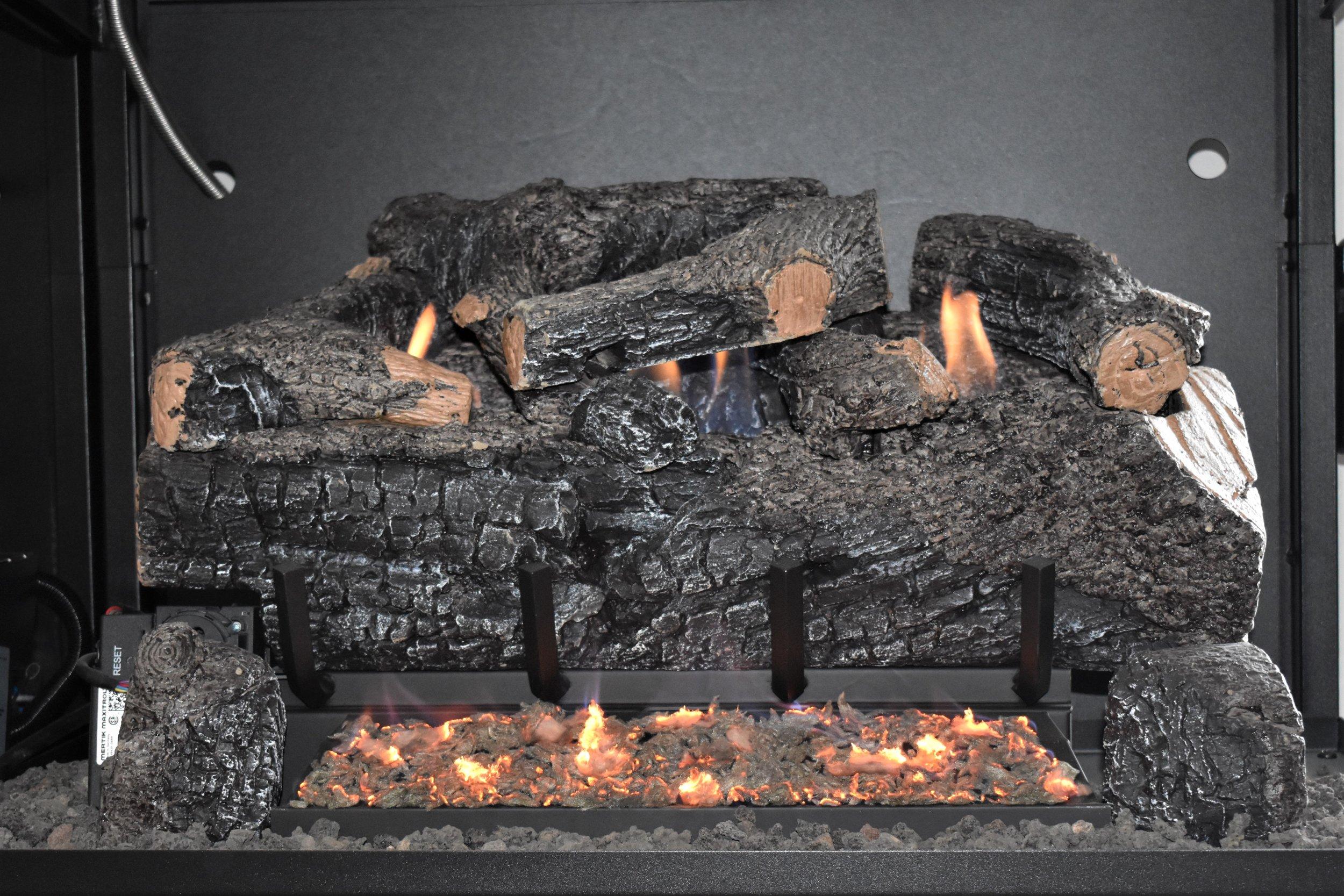 Vent Free Evening Frye Charred Log Set