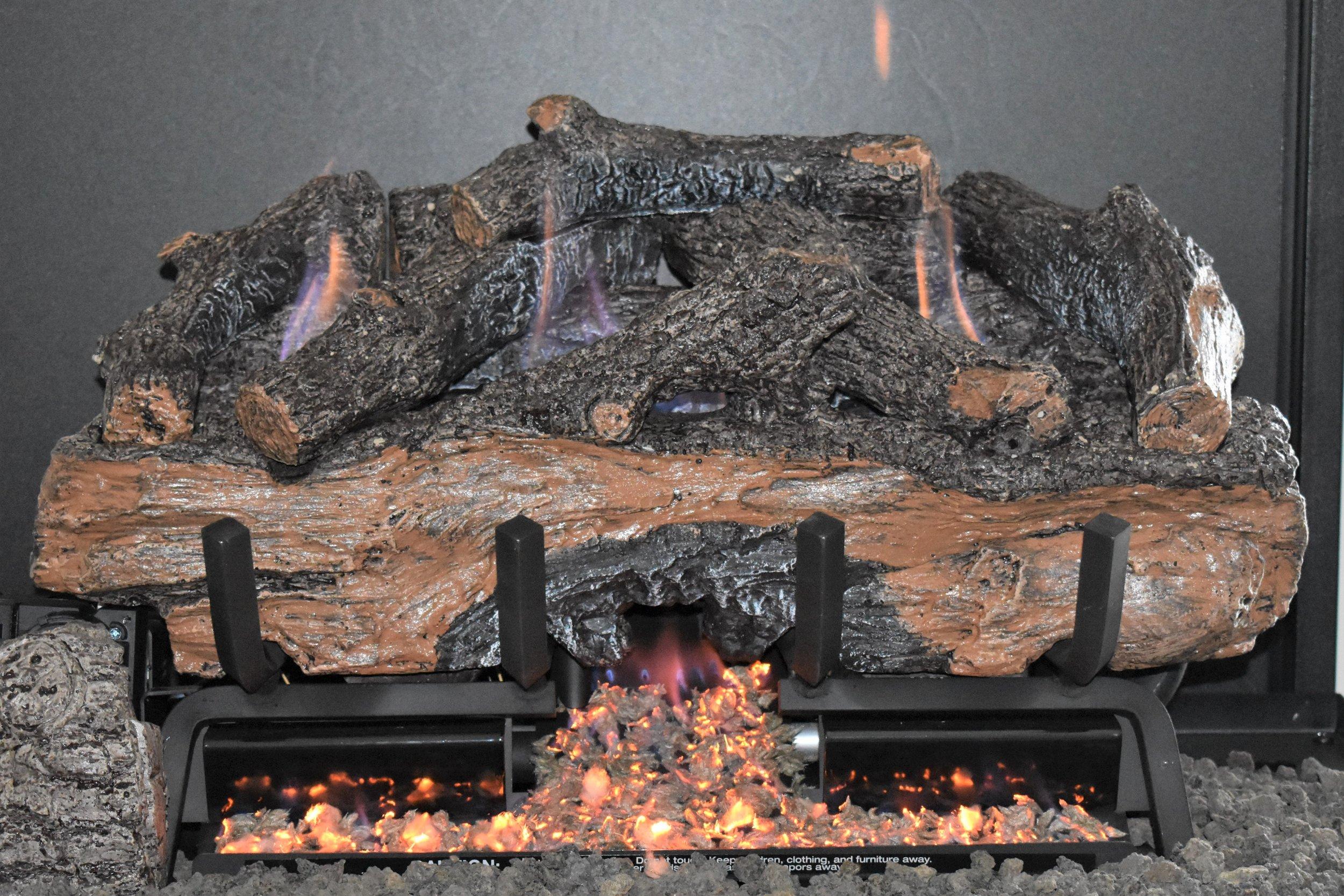 Vent Free Charred Aged Split Log Set