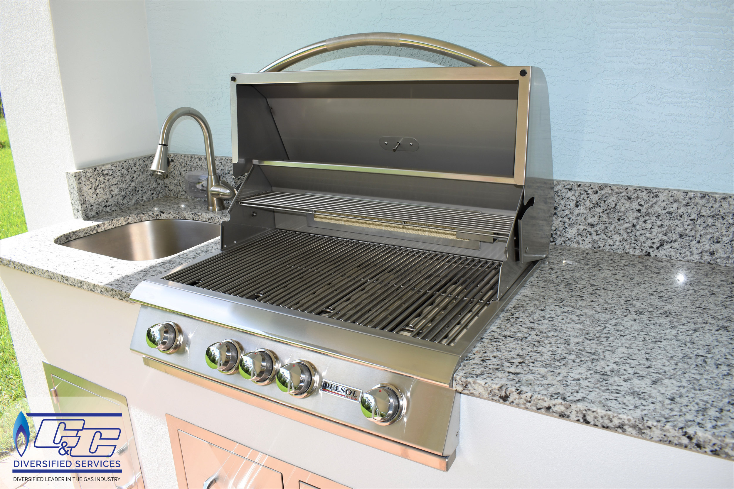 "32"" Delsol Gas Grill with Rotisserie Burner"