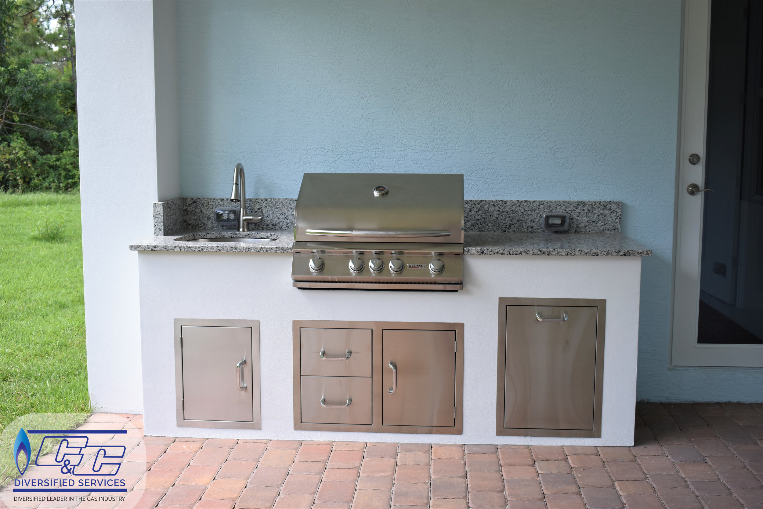 """32"""" Delsol Gas Grill with Rotisserie Burner"""