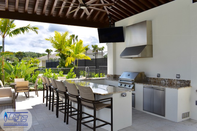 Clubhouse Custom Outdoor Kitchen Build