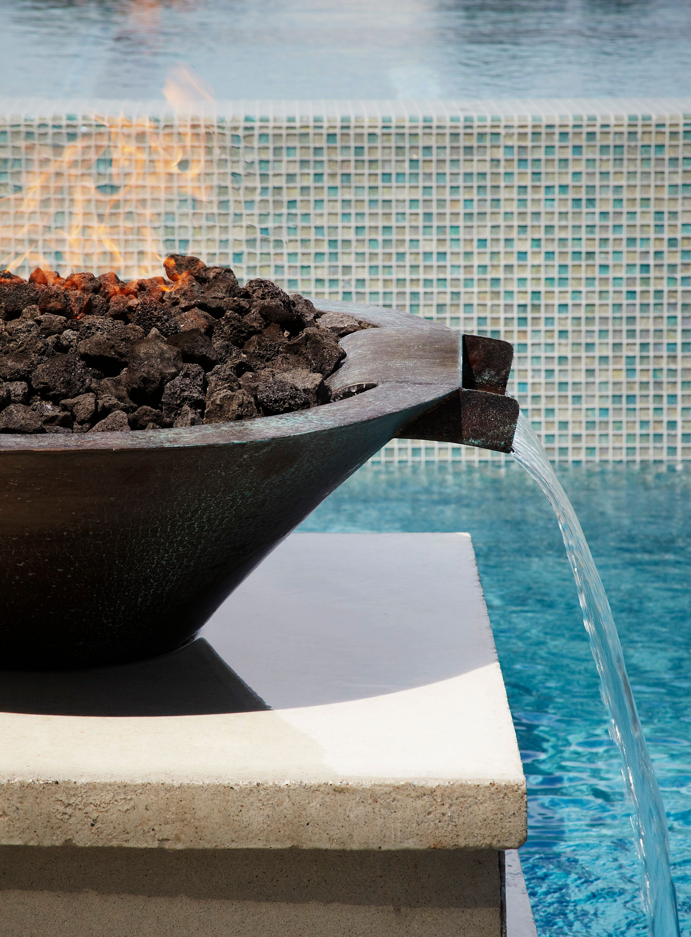 Fire Bowl with Lava Rock