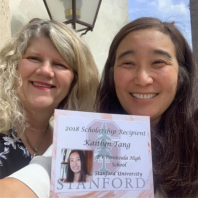 Judy Tang the proud mother of Kaitlyn Tang one of our 2018 Scholarships Recipients!