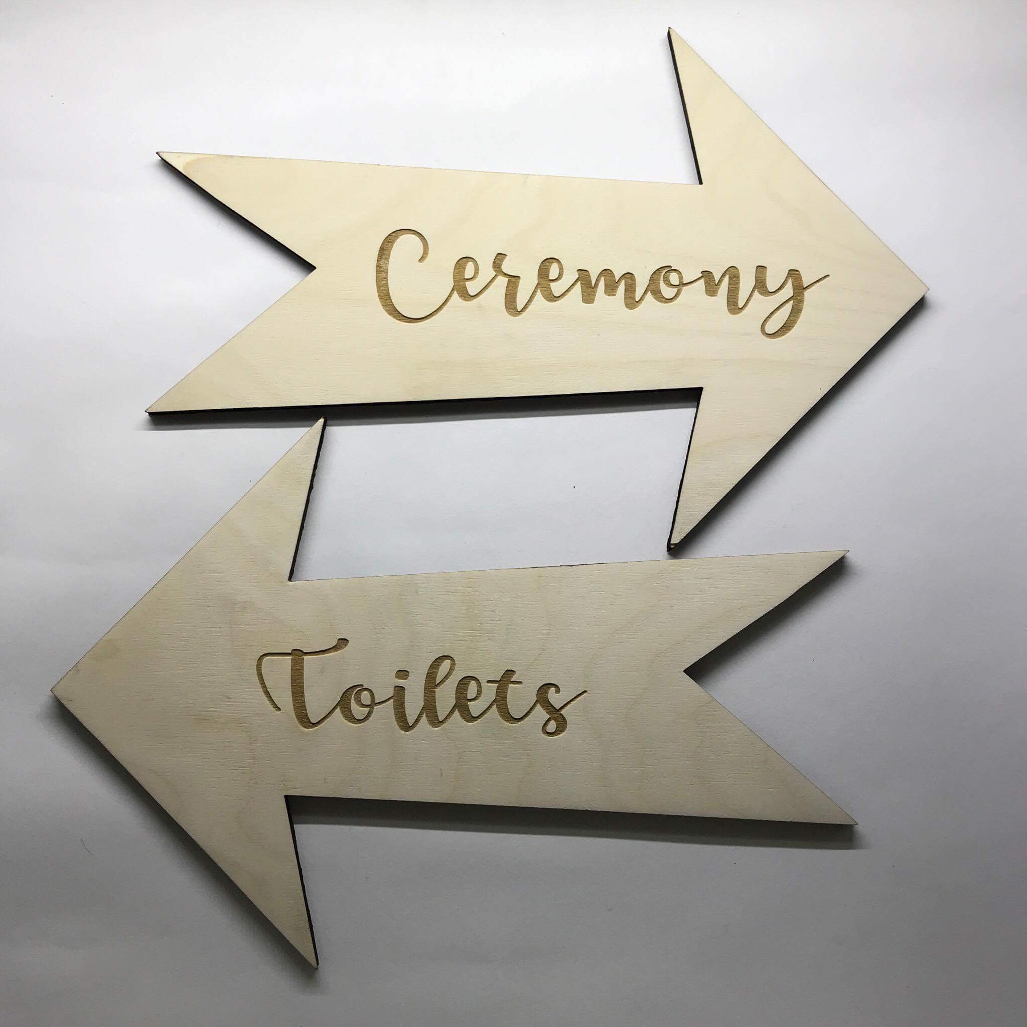 Signage for your venue, designed and made by Sam at Crave Engrave