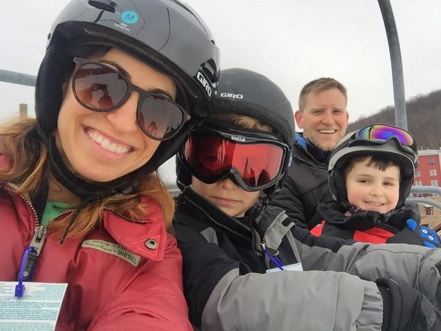 Family ski trip to the Poconos.