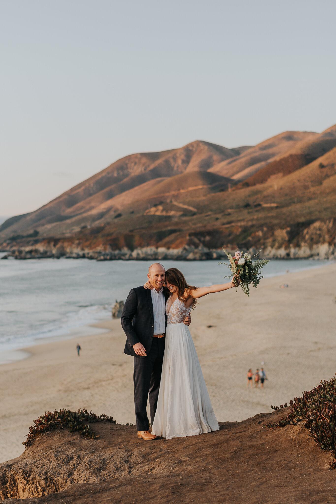 california beach wedding Big Sur