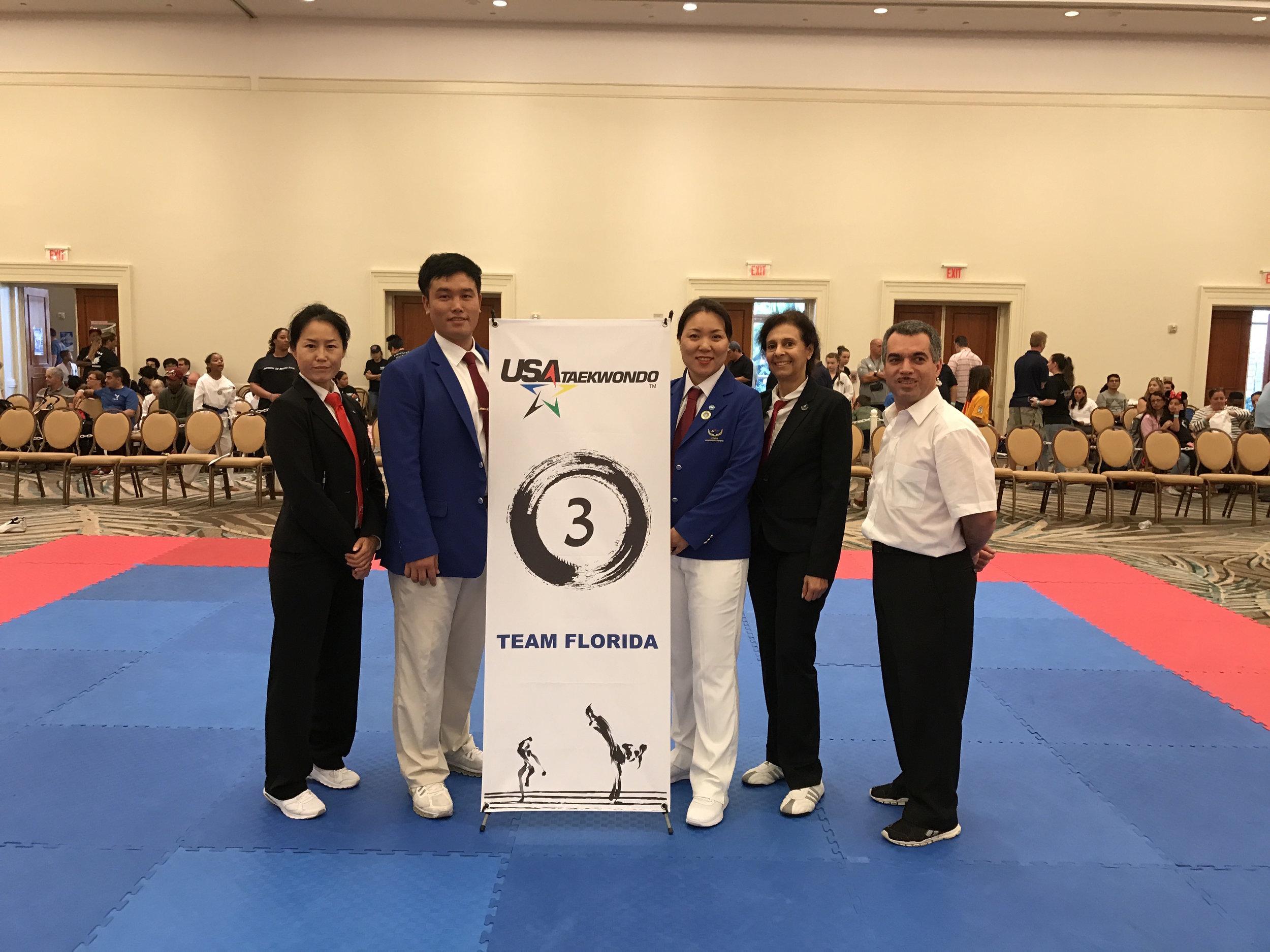 Taekwondo Florida State Championship Referee - Orchid Lim- American Tigers Martial Arts Owner