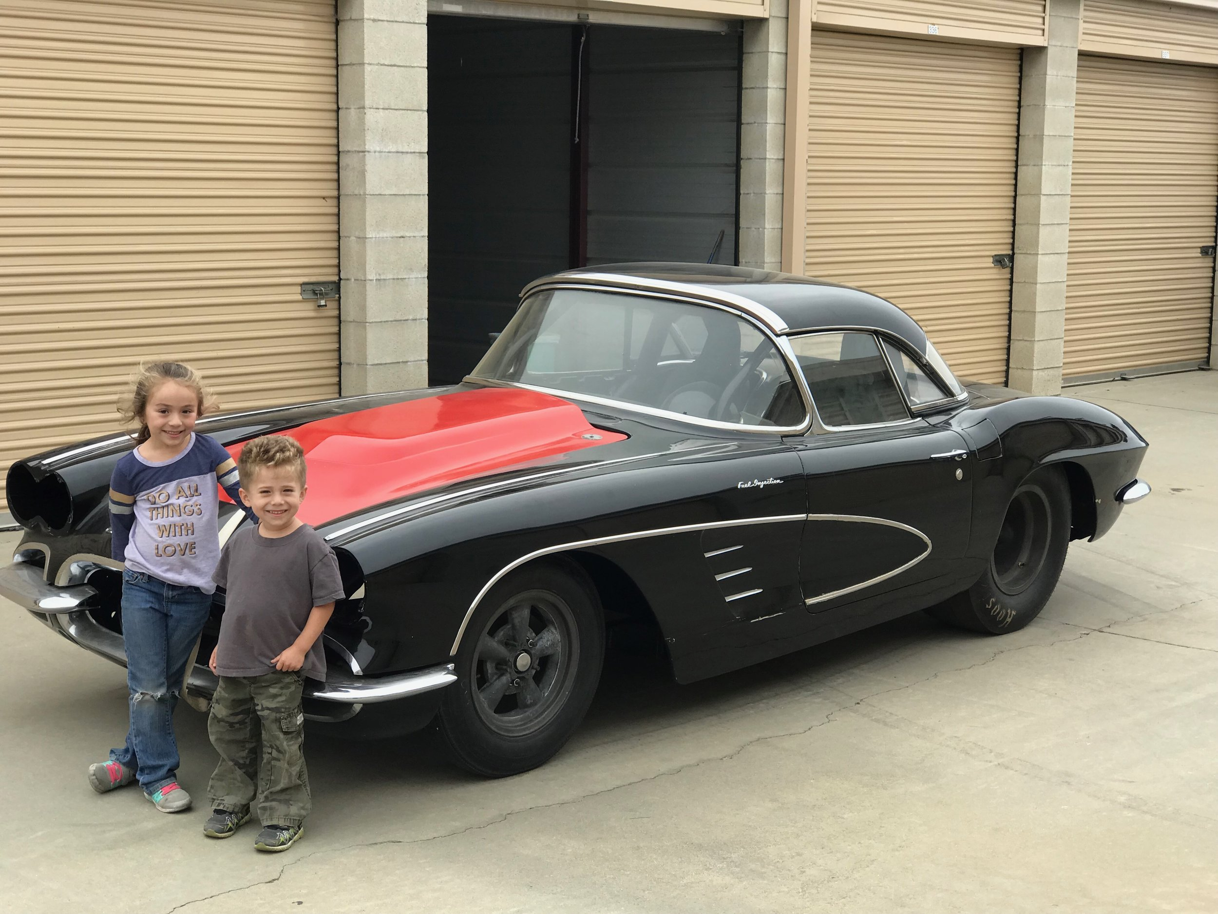 Gil's kids love the Corvette too