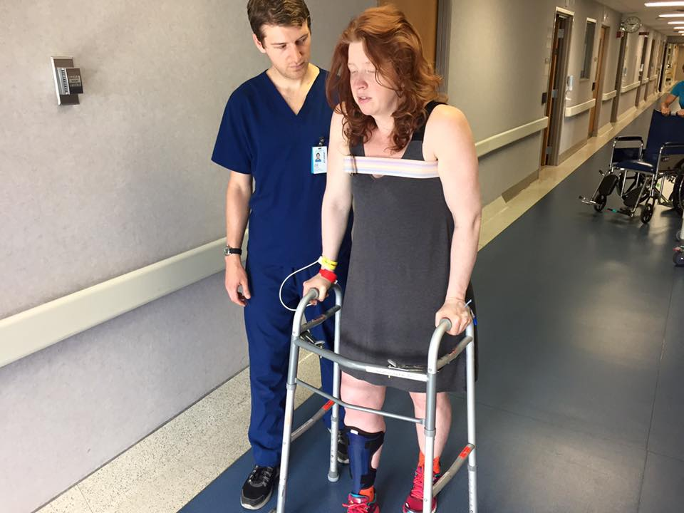 Trying to Walk Post-Surgery After Numerous Scary Complications
