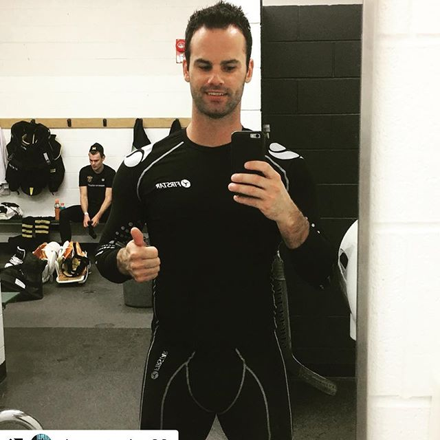 Looking gooooood @danny.taylor.30 .. so glad you FEEL the Firstar difference! #baselayer #performance #moisturemanagement #nhl #goalie