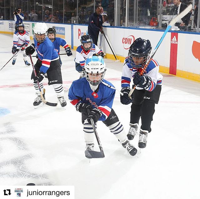 The future is bright and we are so honored to care for the Jr. Rangers! #hockey #hockeyjersey @nyrangers @nhl