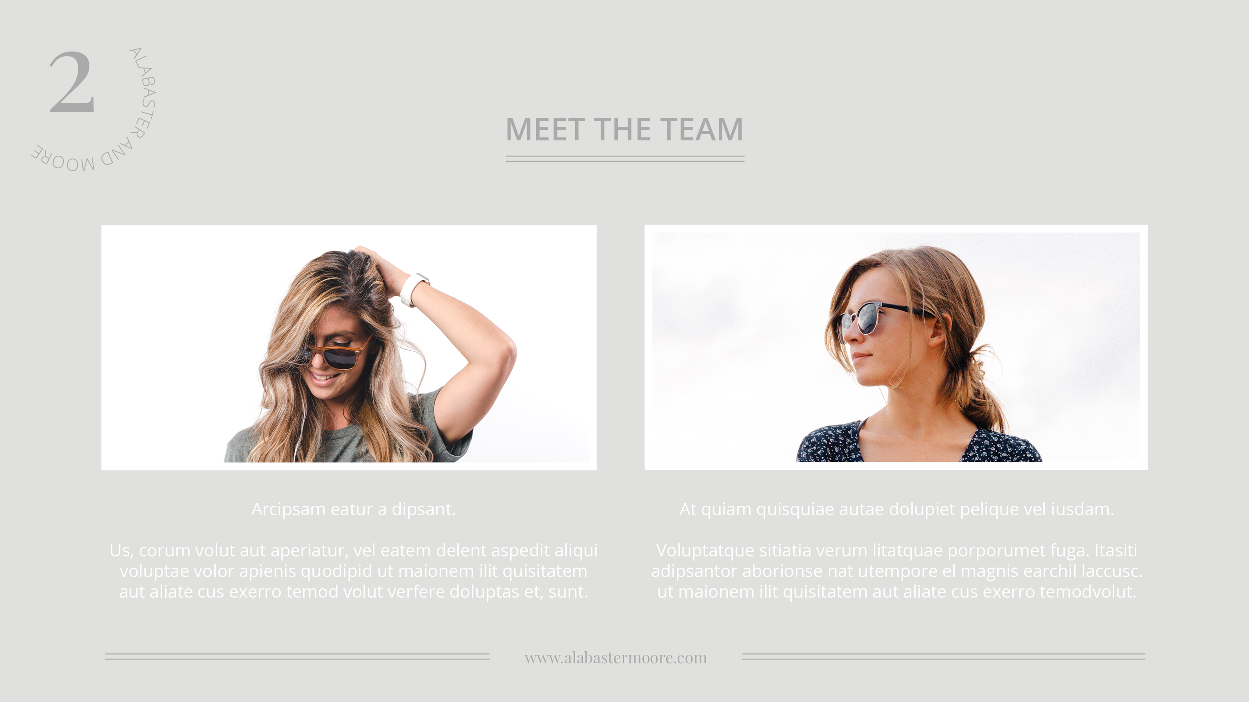 Alabaster and Moore Media Kit | Meet the Team