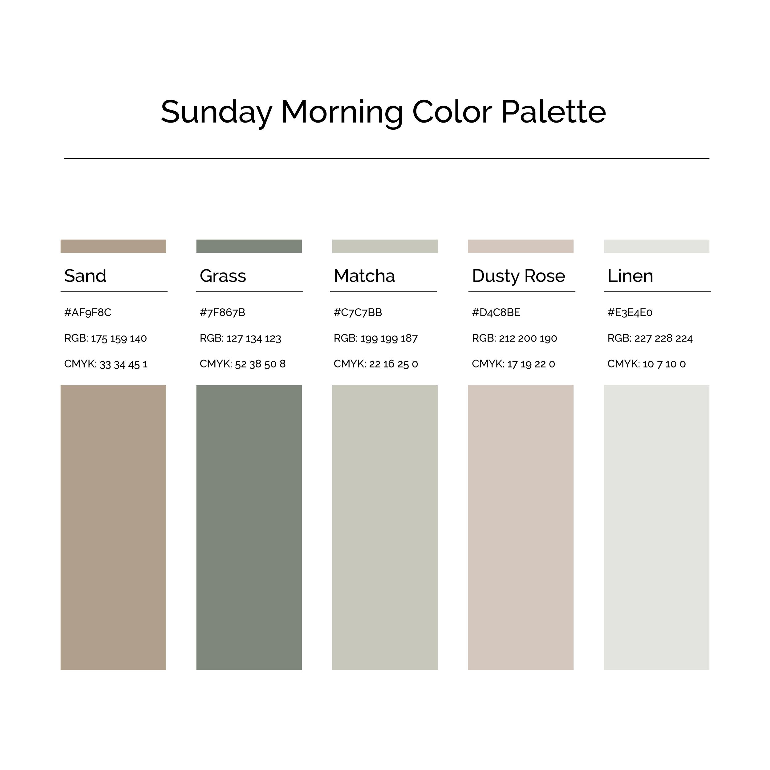 15 More Color Palettes | Sunday Morning Color Palette