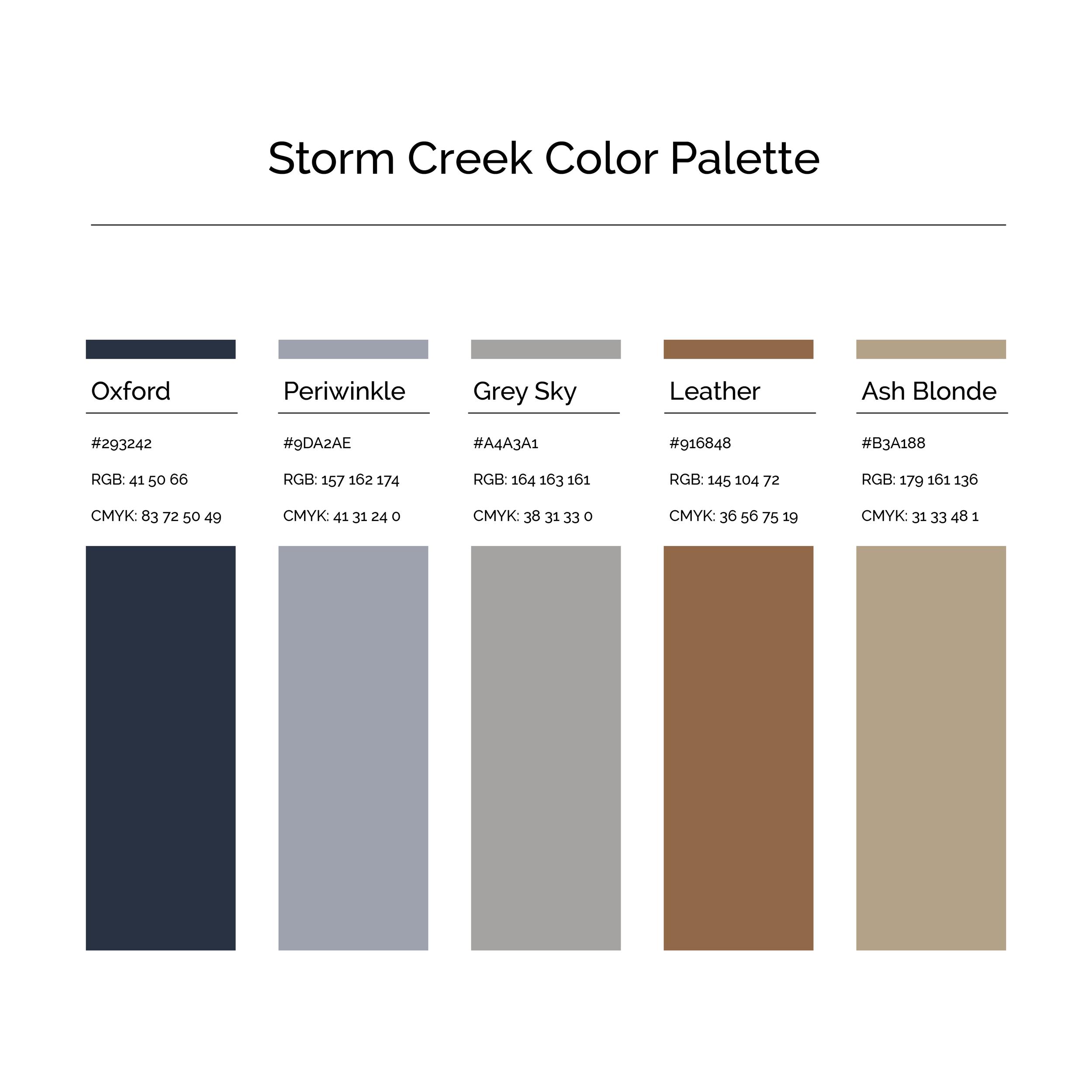 15 More Color Palettes | Storm Creek Color Palette