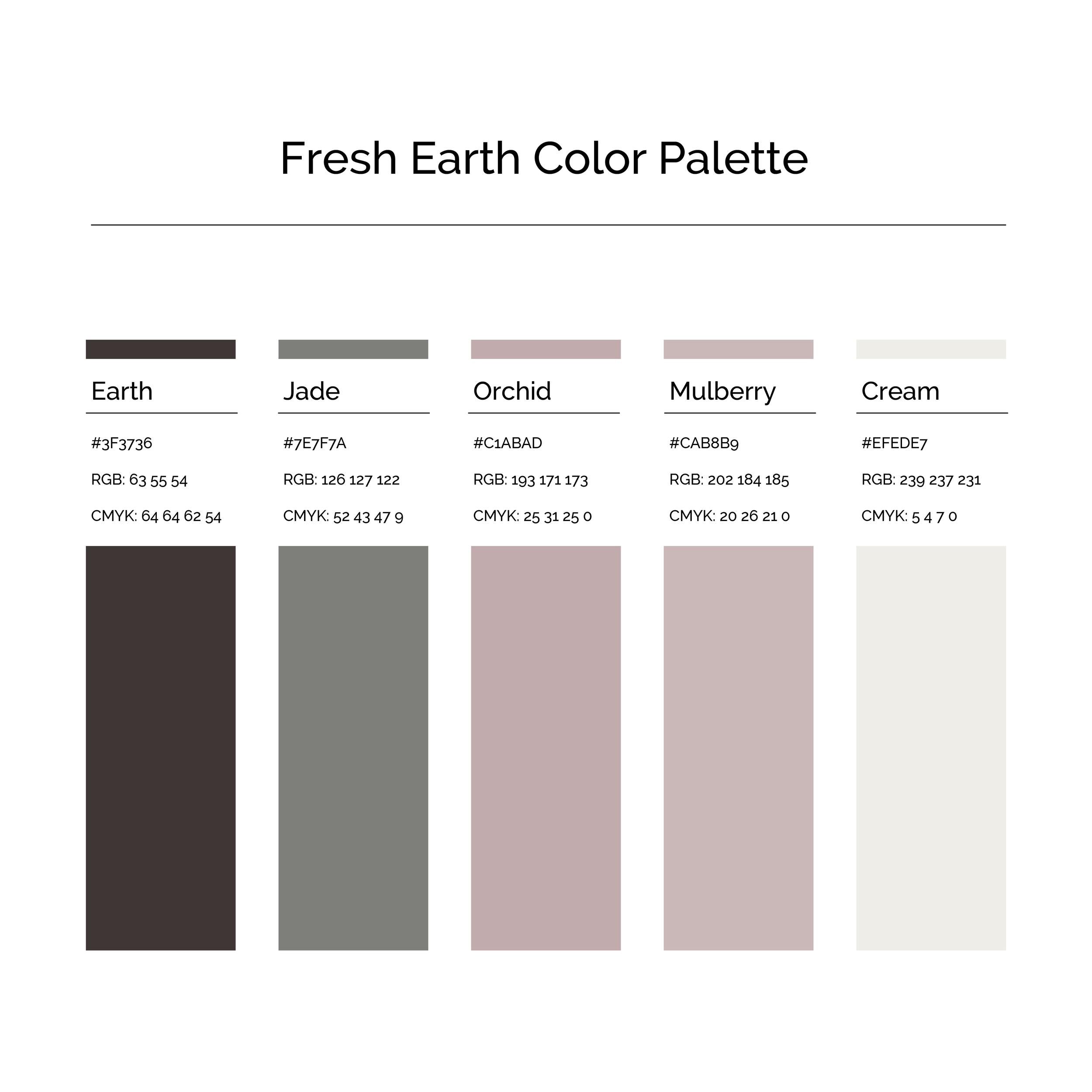 15 More Color Palettes | Fresh Earth Color Palette