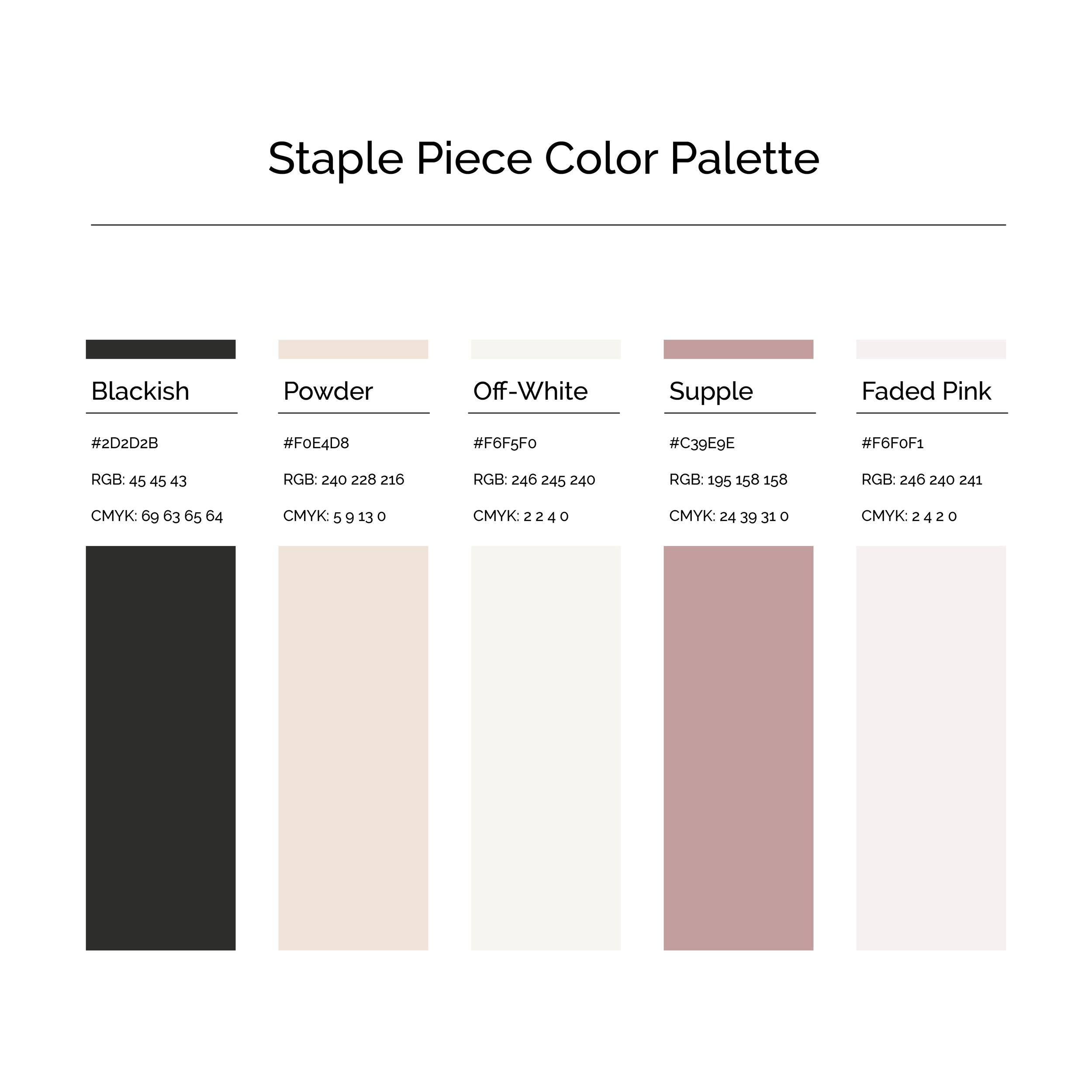 15 More Color Palettes | Staple Piece Color Palette
