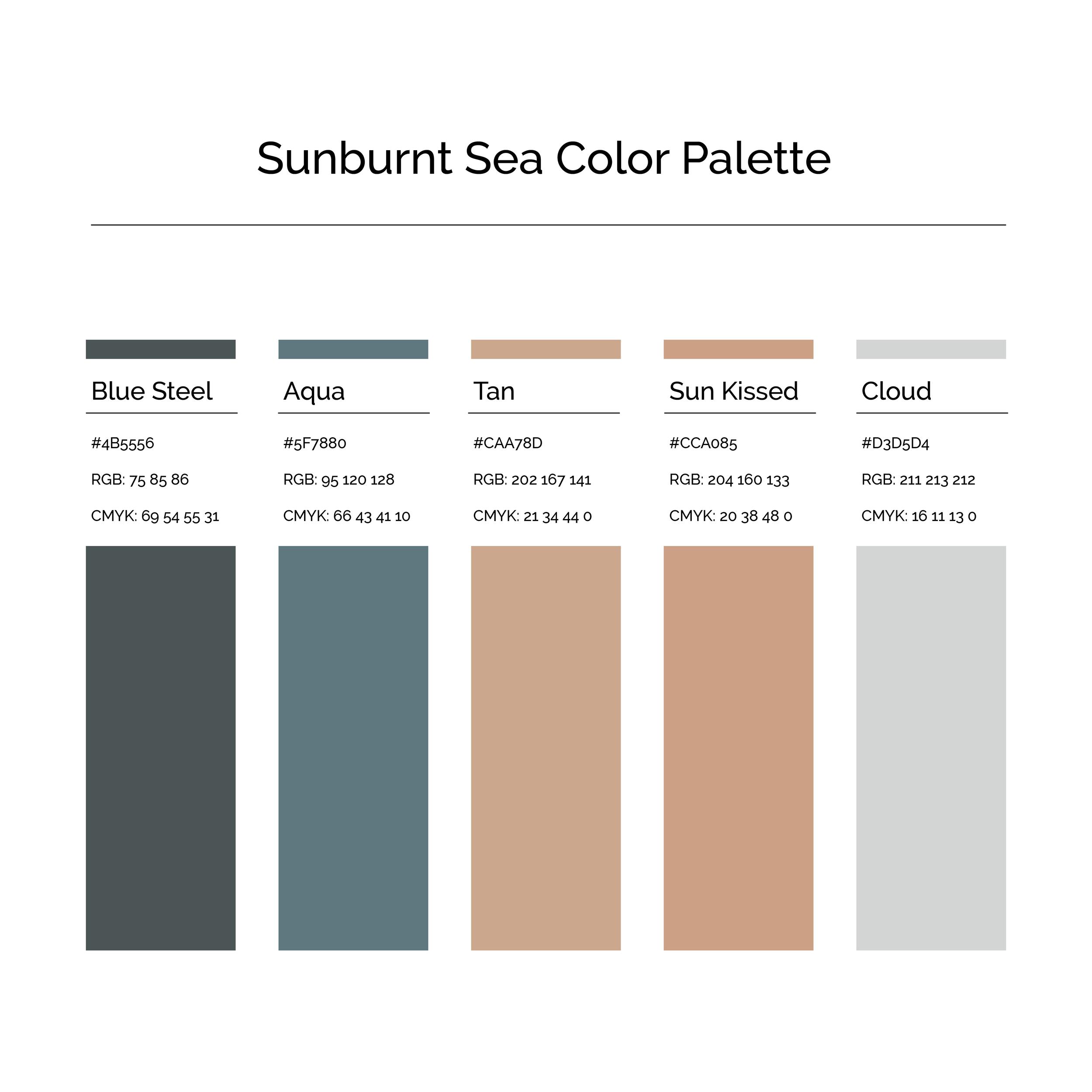 15 More Color Palettes | Sunburnt Sea Color Palette