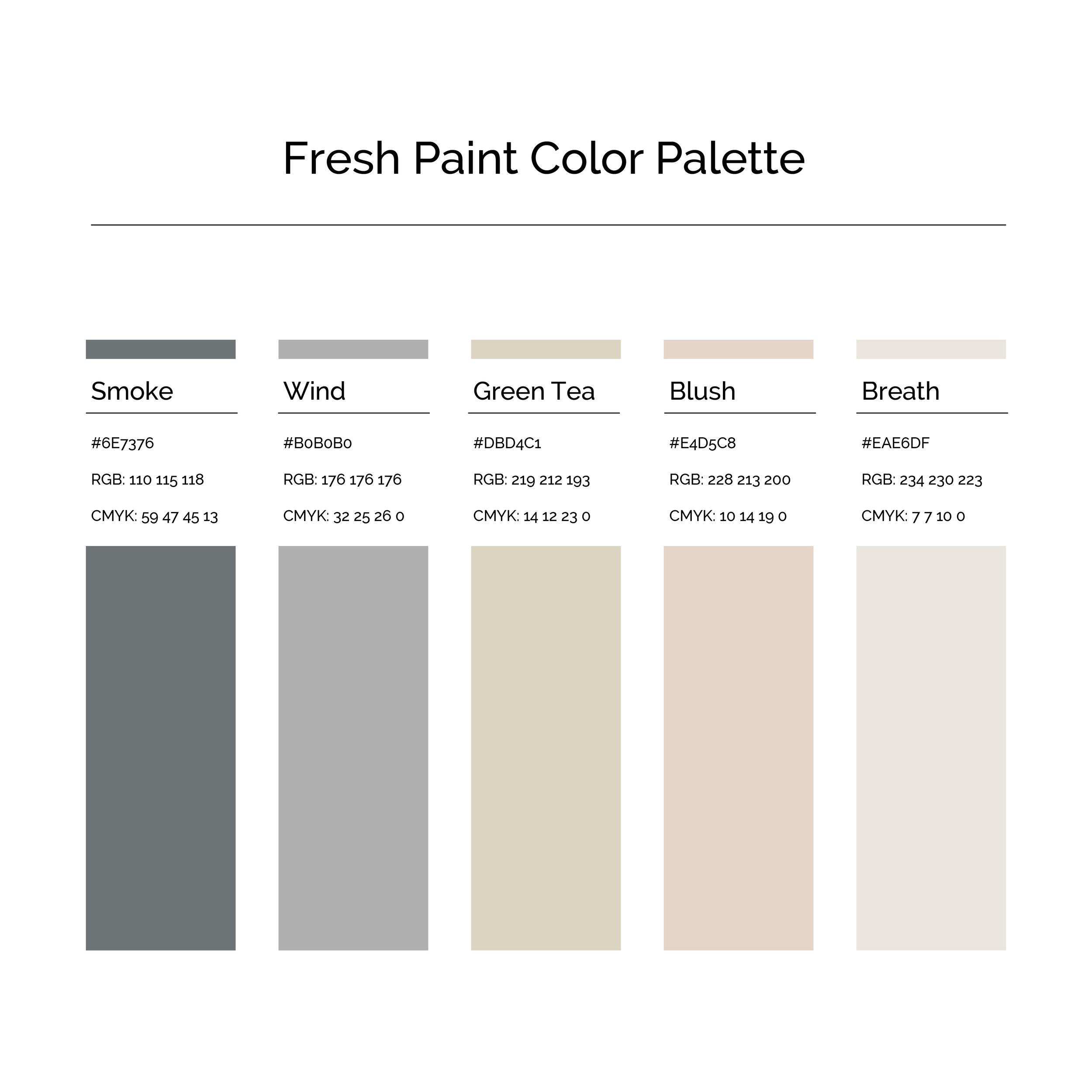 15 More Color Palettes | Fresh Paint Color Palette