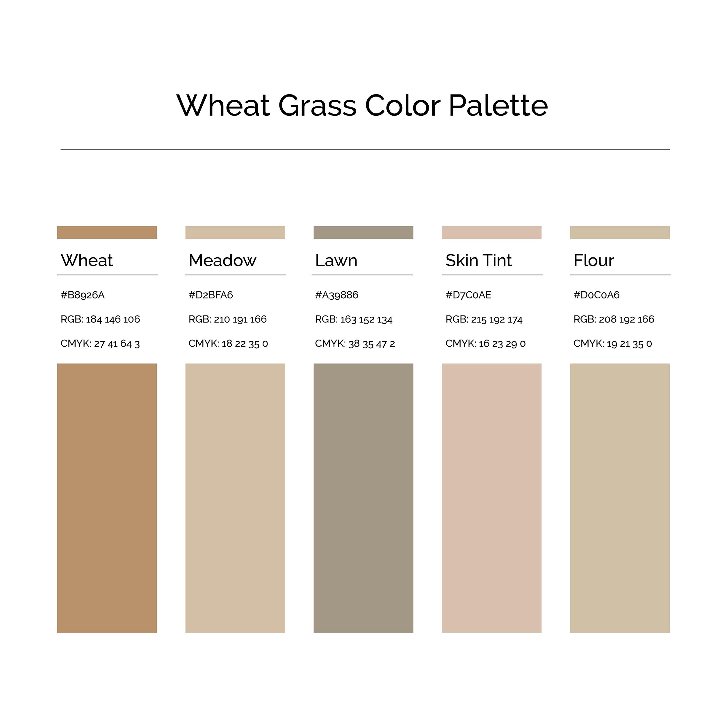 15 More Color Palettes | Wheat Grass Color Palette