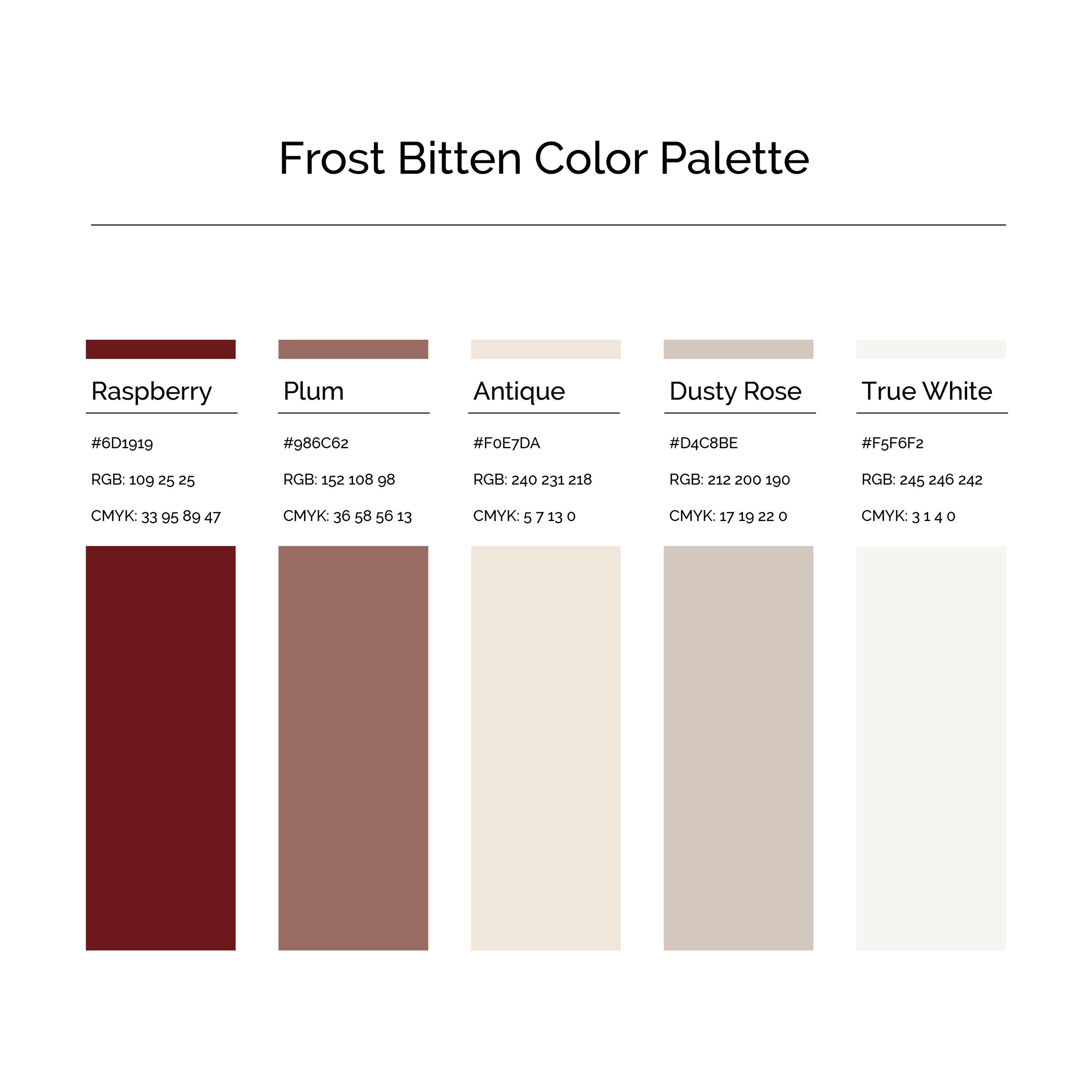 15 More Color Palettes | Frost Bitten Color Palette