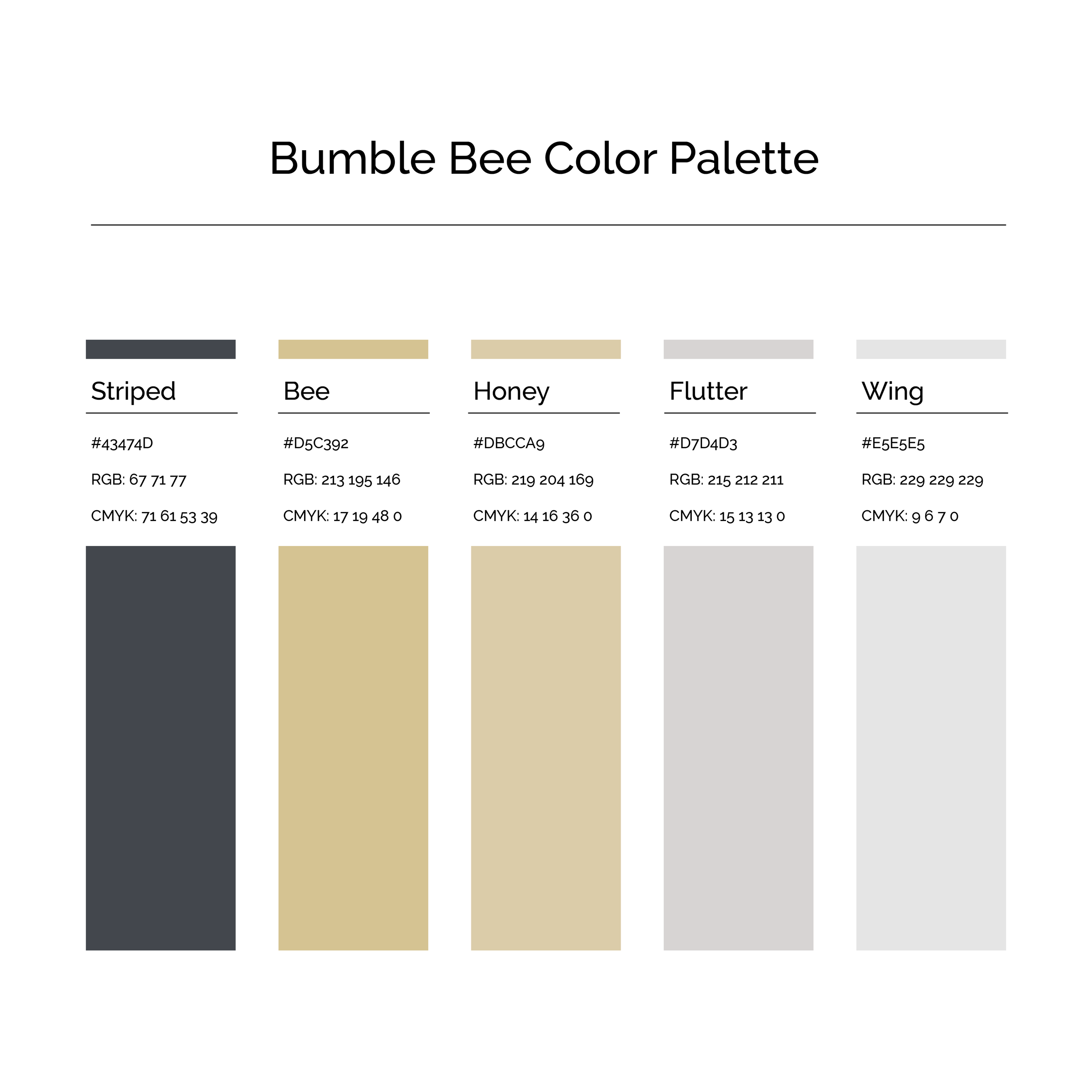 15 More Color Palettes | Bumble Bee Color Palette