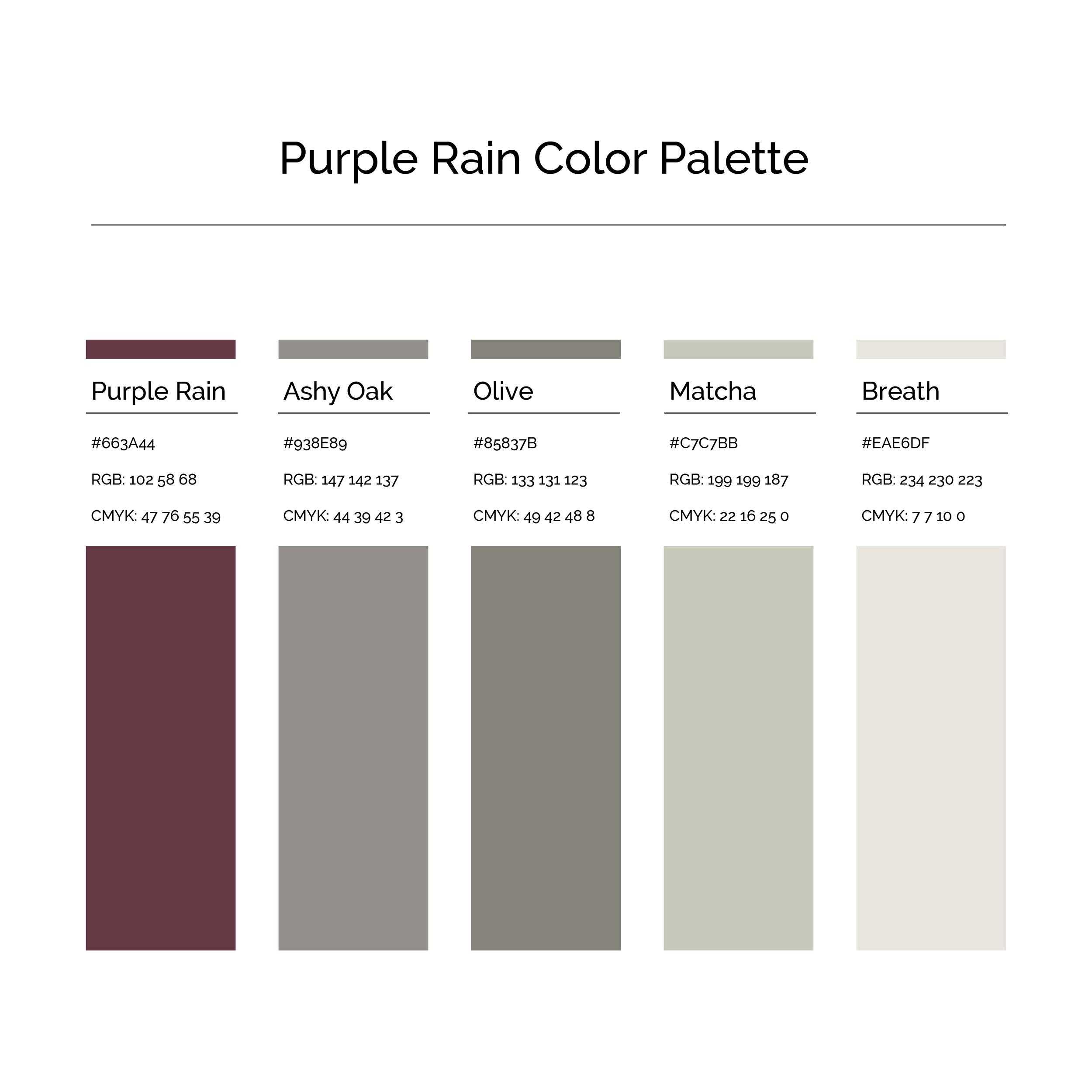 15 More Color Palettes | Purple Rain Color Palette