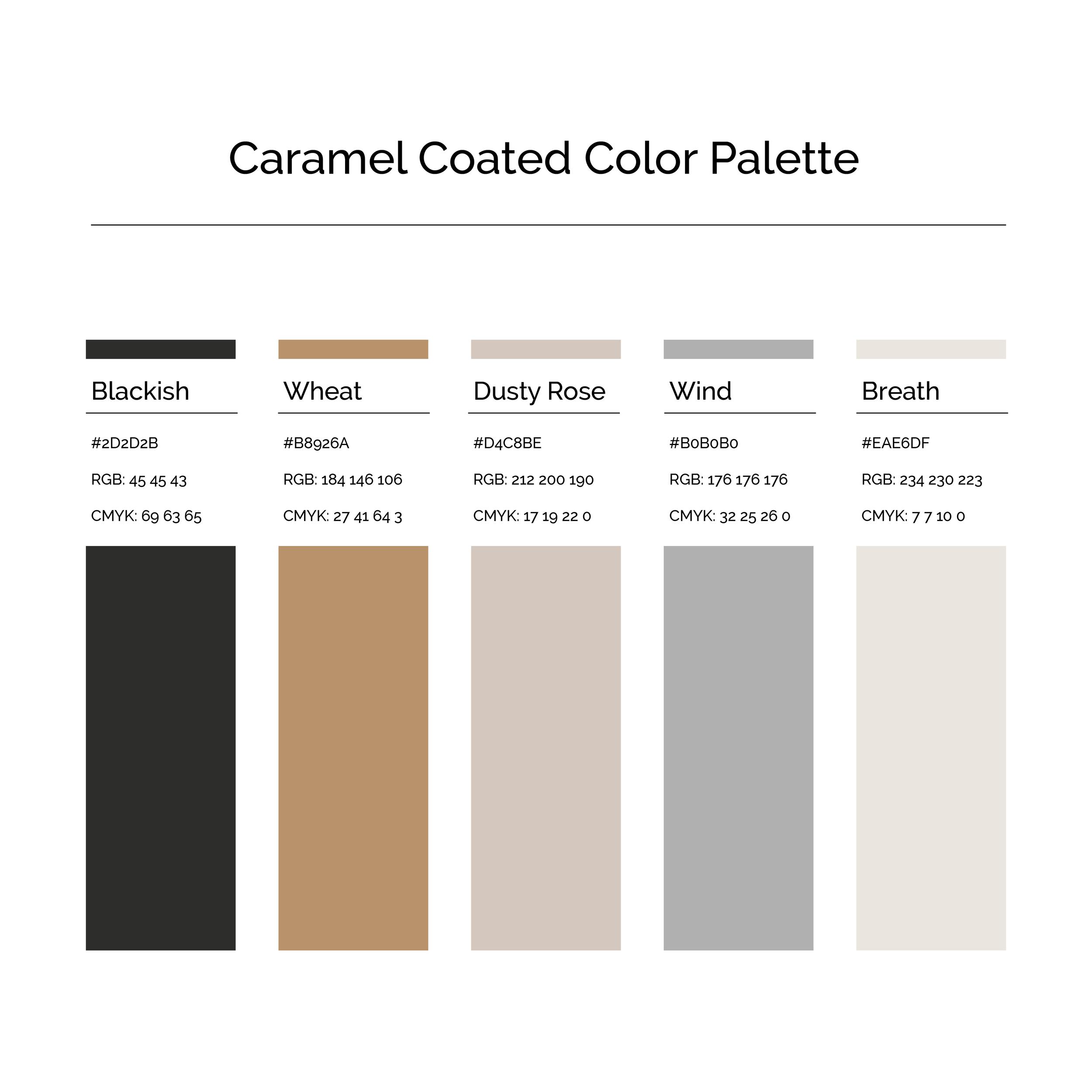15 More Color Palettes | Caramel Coated Color Palette