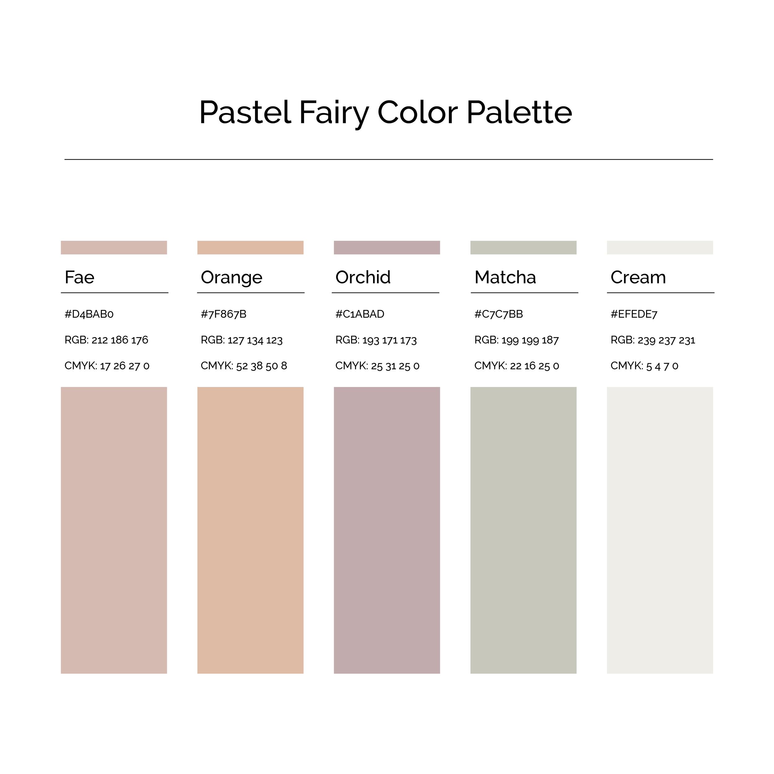 15 More Color Palettes | Pastel Fairy Color Palette