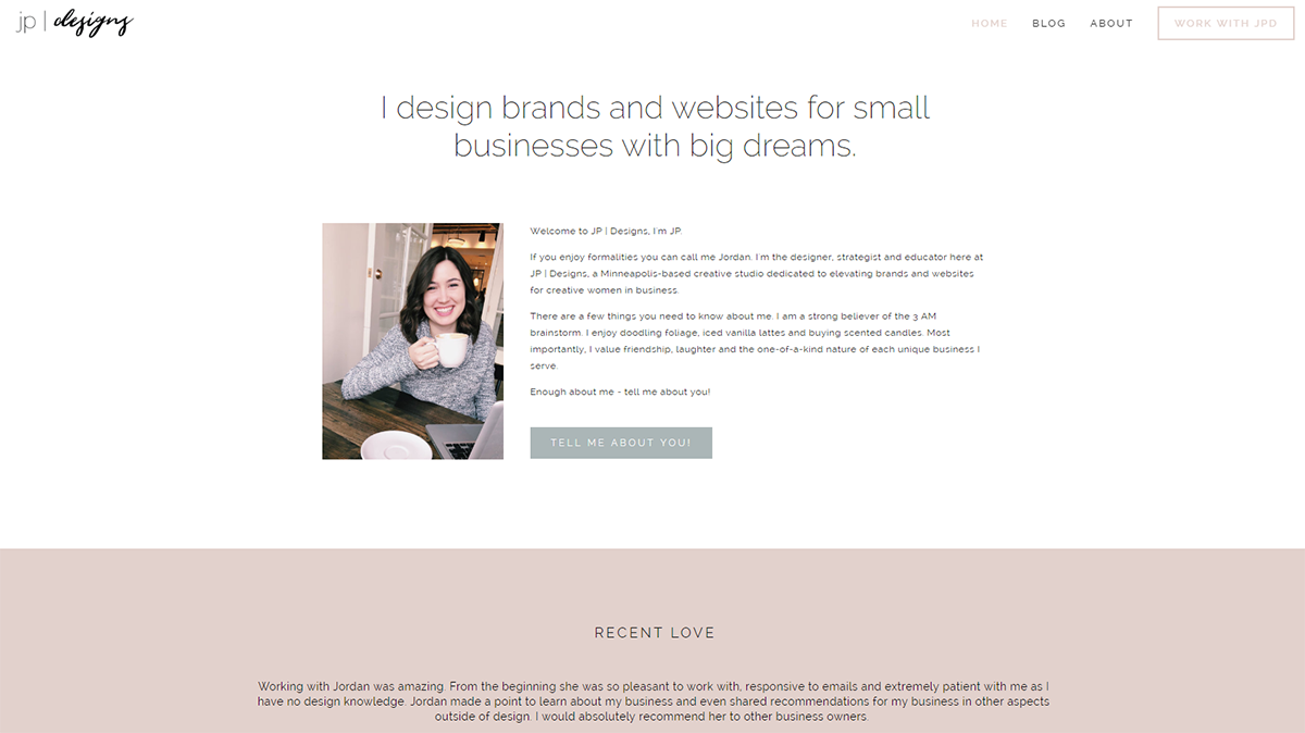 CSS Colored Backgrounds in Squarespace with Jordan Prindle Designs
