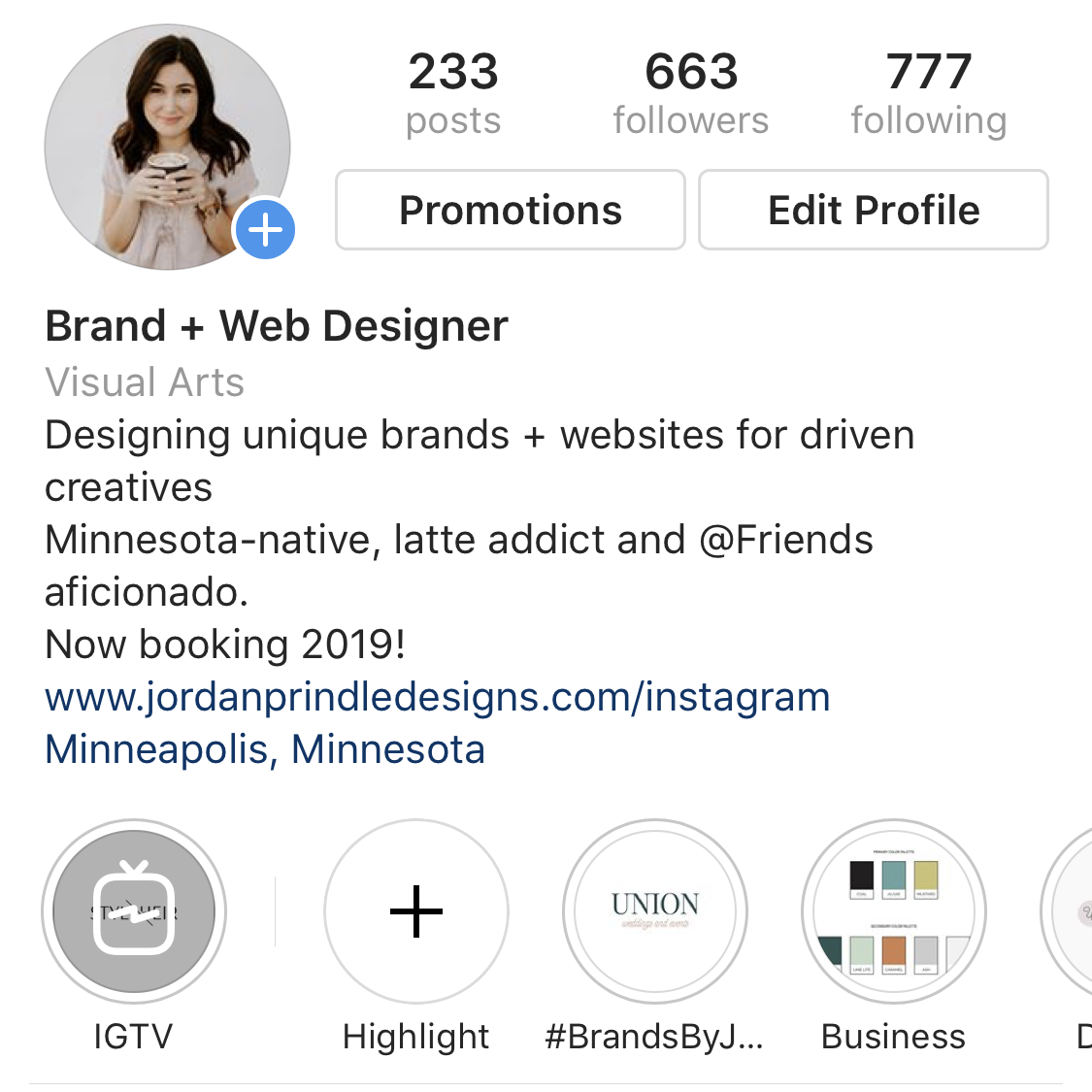 Brand Your Instagram Profile with Jordan Prindle Designs