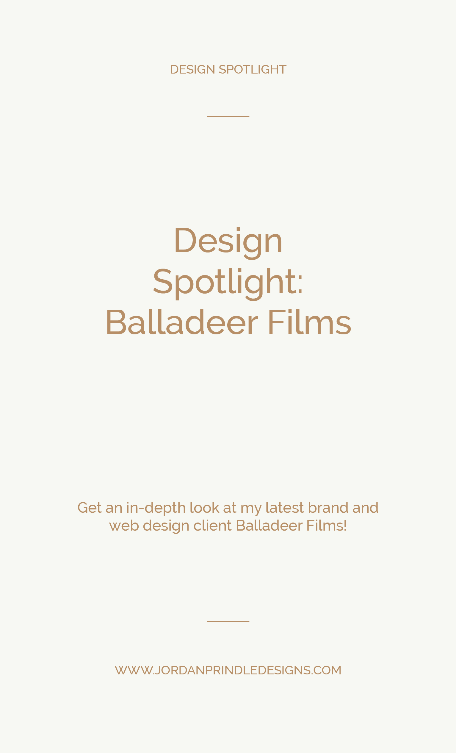 Design Spotlight Balladeer Films | A new brand and web design project completed for Balladeer Films by www.jordanprindledesigns.com #squarespacedesign #branddesigner #newwebdesign