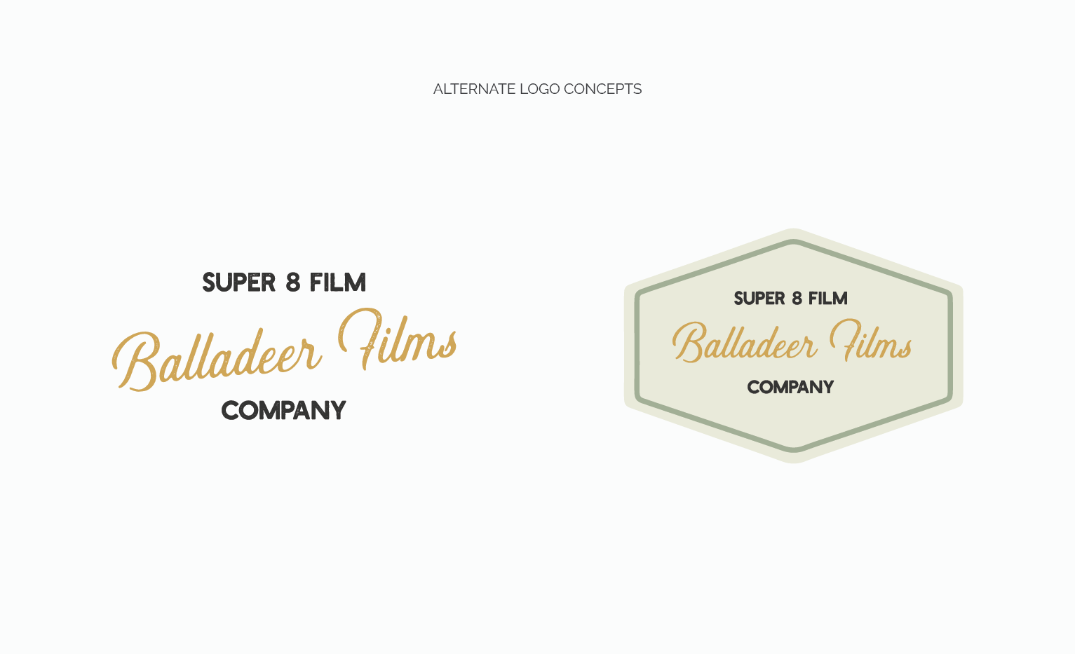 Alternate Logo Concepts for Balladeer Films by Jordan Prindle | Designs