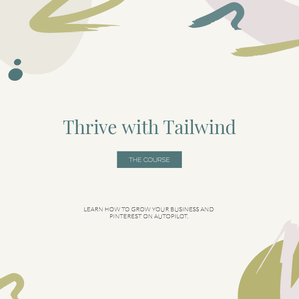 Thrive with Tailwind | Educational Courses with Jordan Prindle Designs