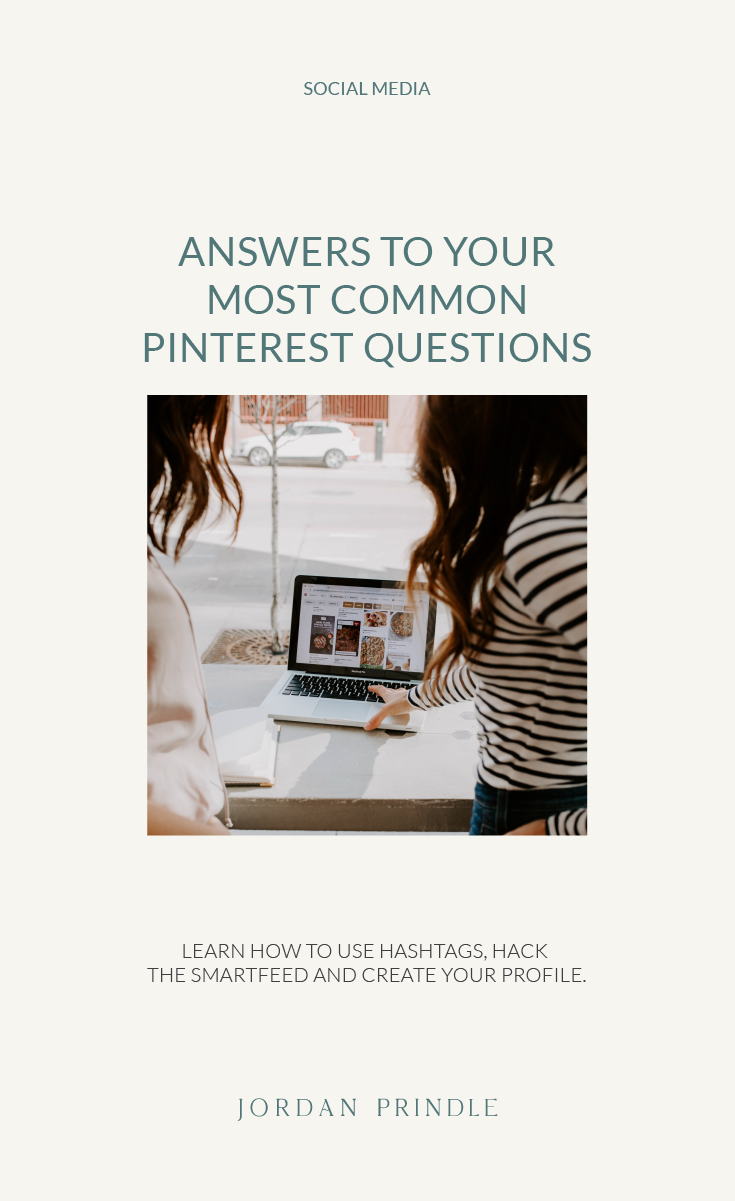 Answering Your Most Common Pinterest Questions | Learn how to set up your pinterest profile, use hashtags on pinterest and get found on the SmartFeed over at www.jordanprindledesigns.com #pinteresttips #pinterestmarketing #pinterest  #socialmediatips