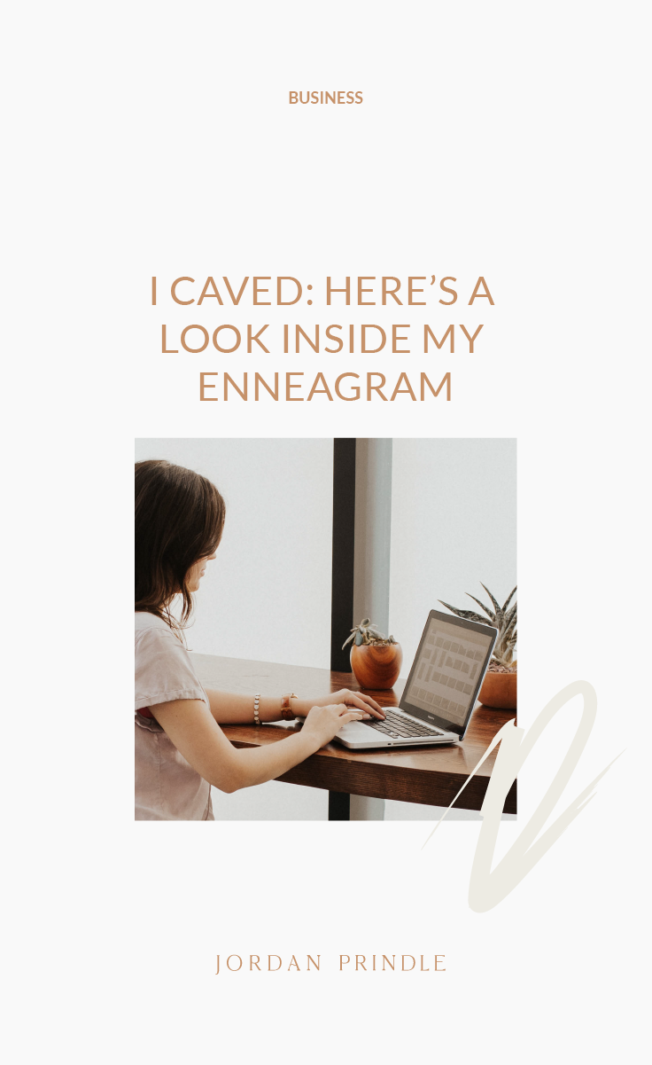 I Caved: Here's a Look Inside My Enneagram | I finally took the test. Take a look at how it has effected me as a business owner and find out who else shares my enneagram type #business #smallbusiness #businessenneagram